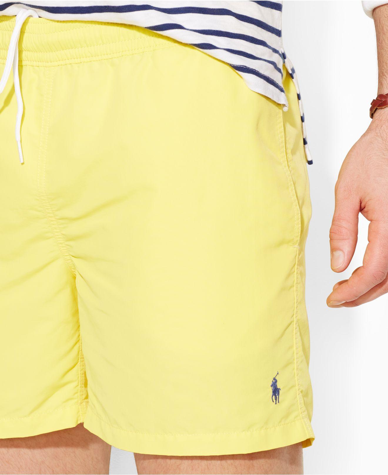 8515ea88782c ... shopping lyst polo ralph lauren big and tall hawaiian swim shorts in  yellow for men 43781