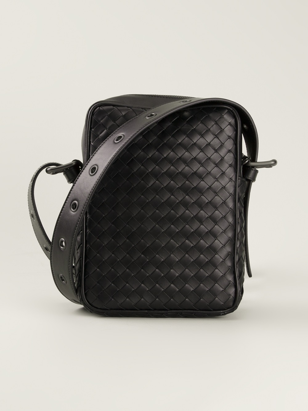 Bottega Veneta Small Woven Leather Messenger Bag
