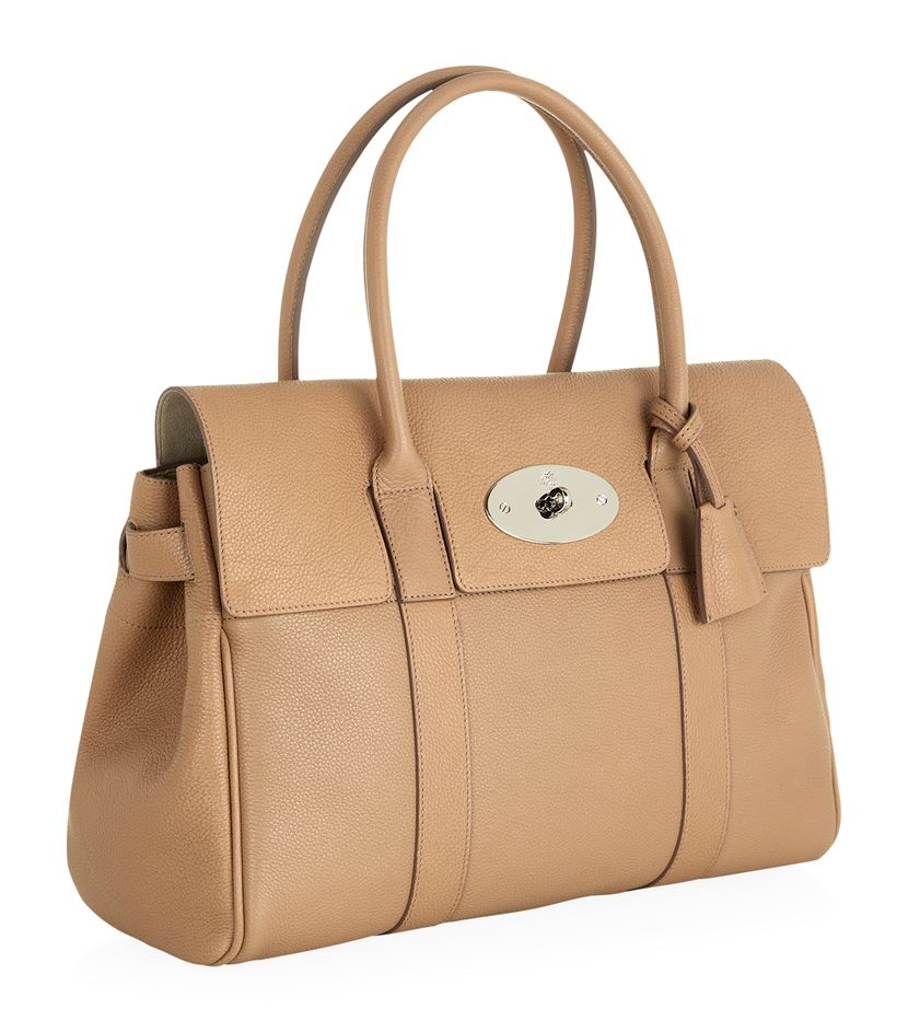 216ea5a083c1 ... best price mulberry bayswater classic grain tote in natural lyst 51bf7  ac745