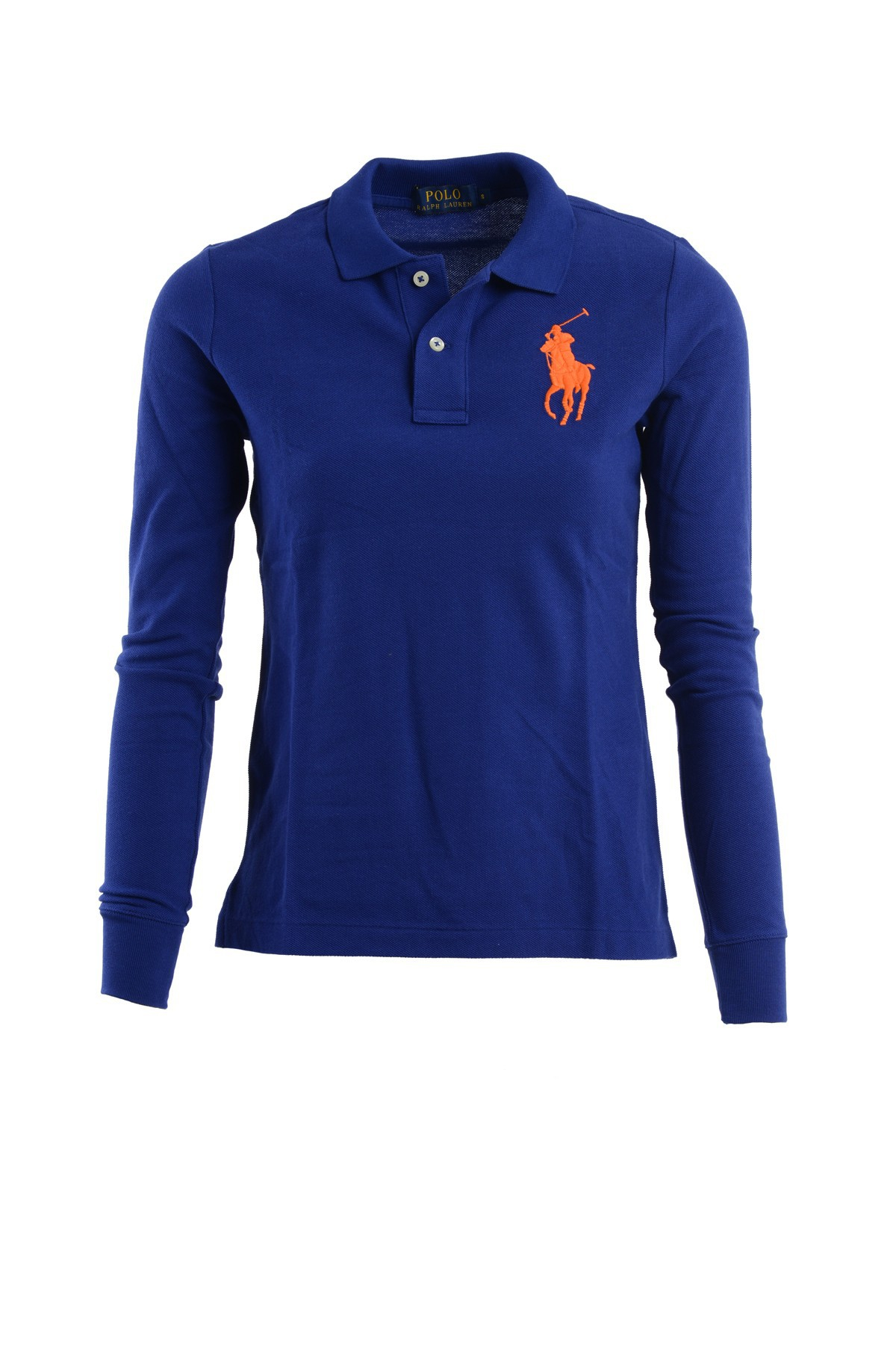 Ralph lauren long sleeves polo short with two buttons in for Long sleeve purple polo shirt