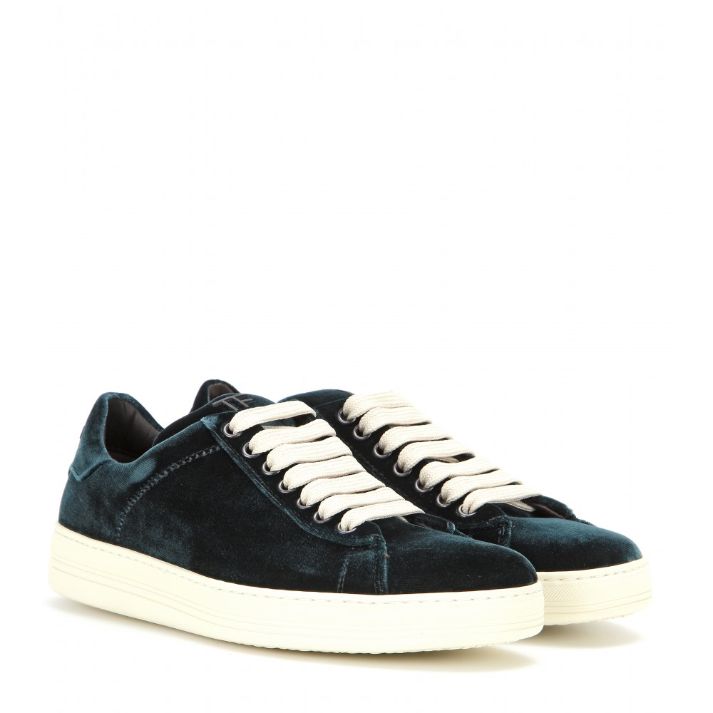 tom ford velvet sneakers in black lyst