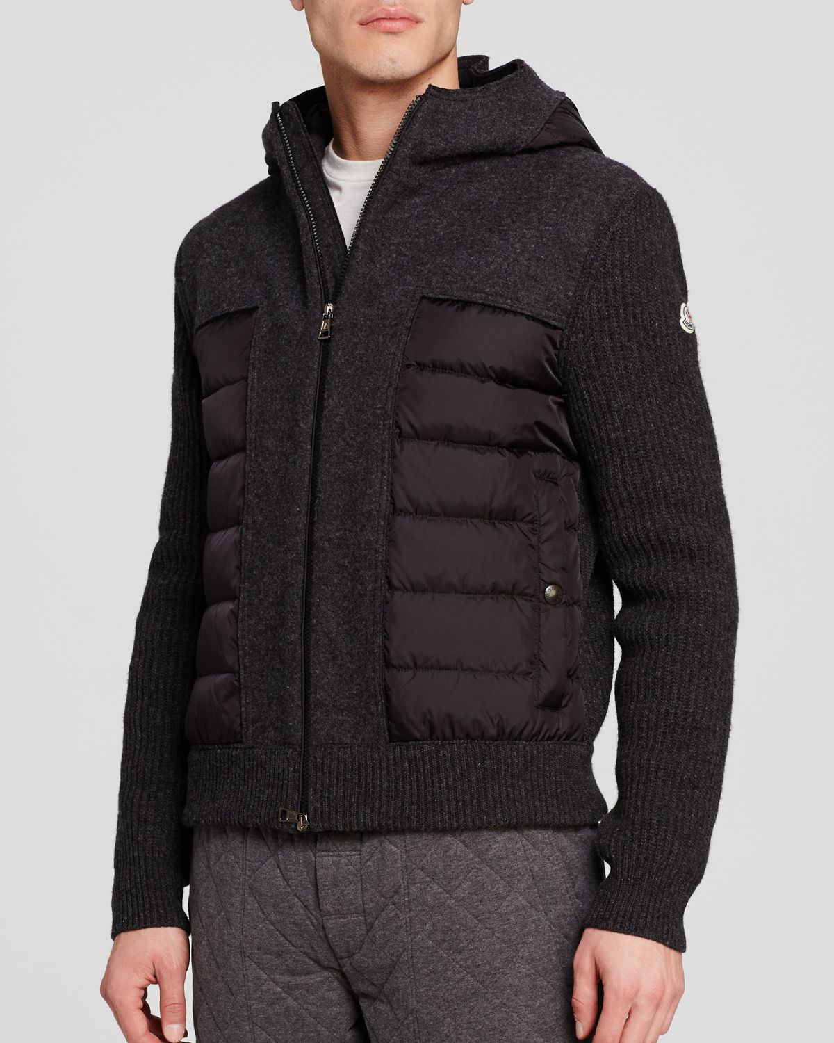 moncler maglione barrel side panel cardigan