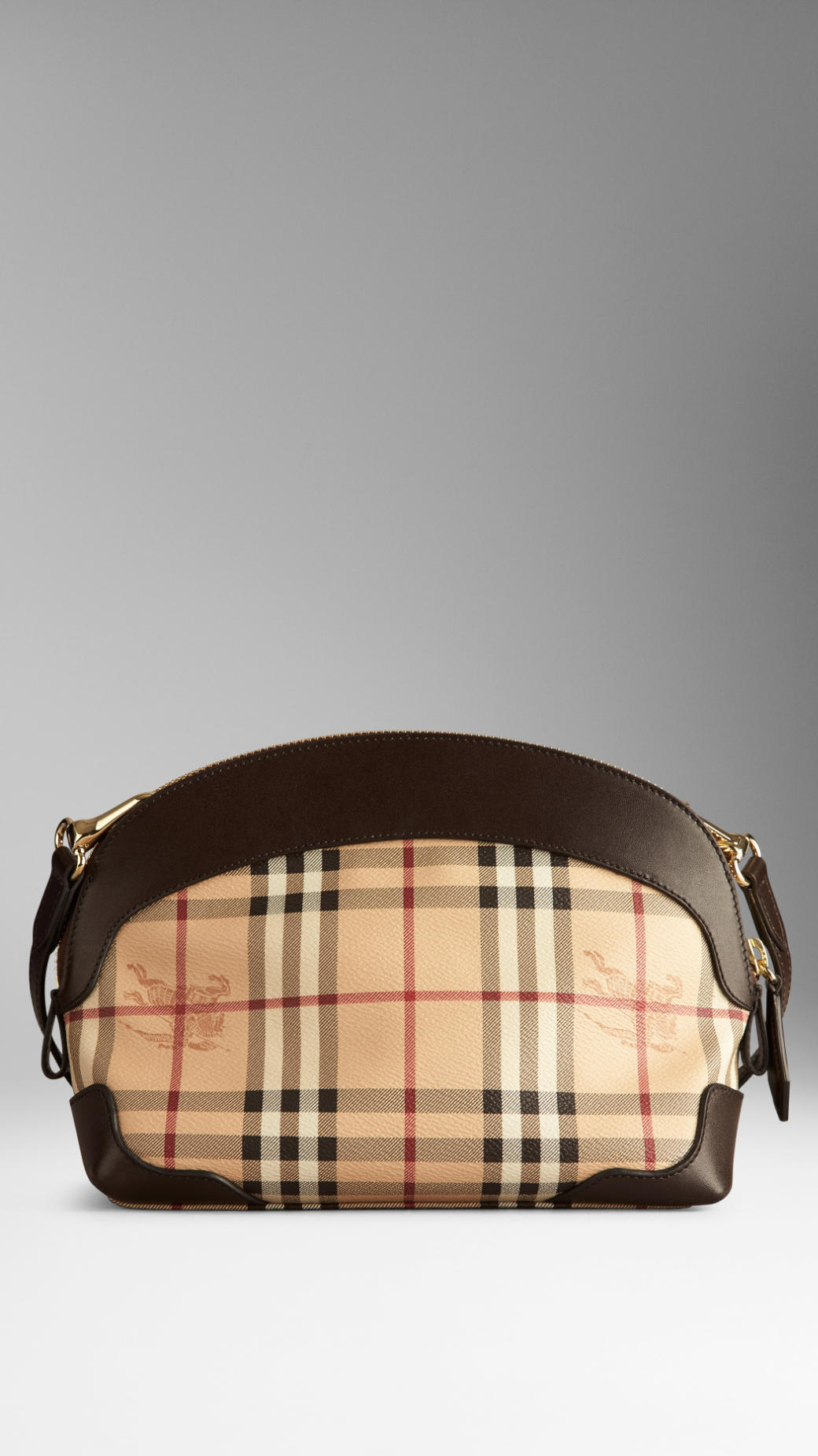 1074bc422c3 Burberry Small Haymarket Check Crossbody Bag in Brown - Lyst