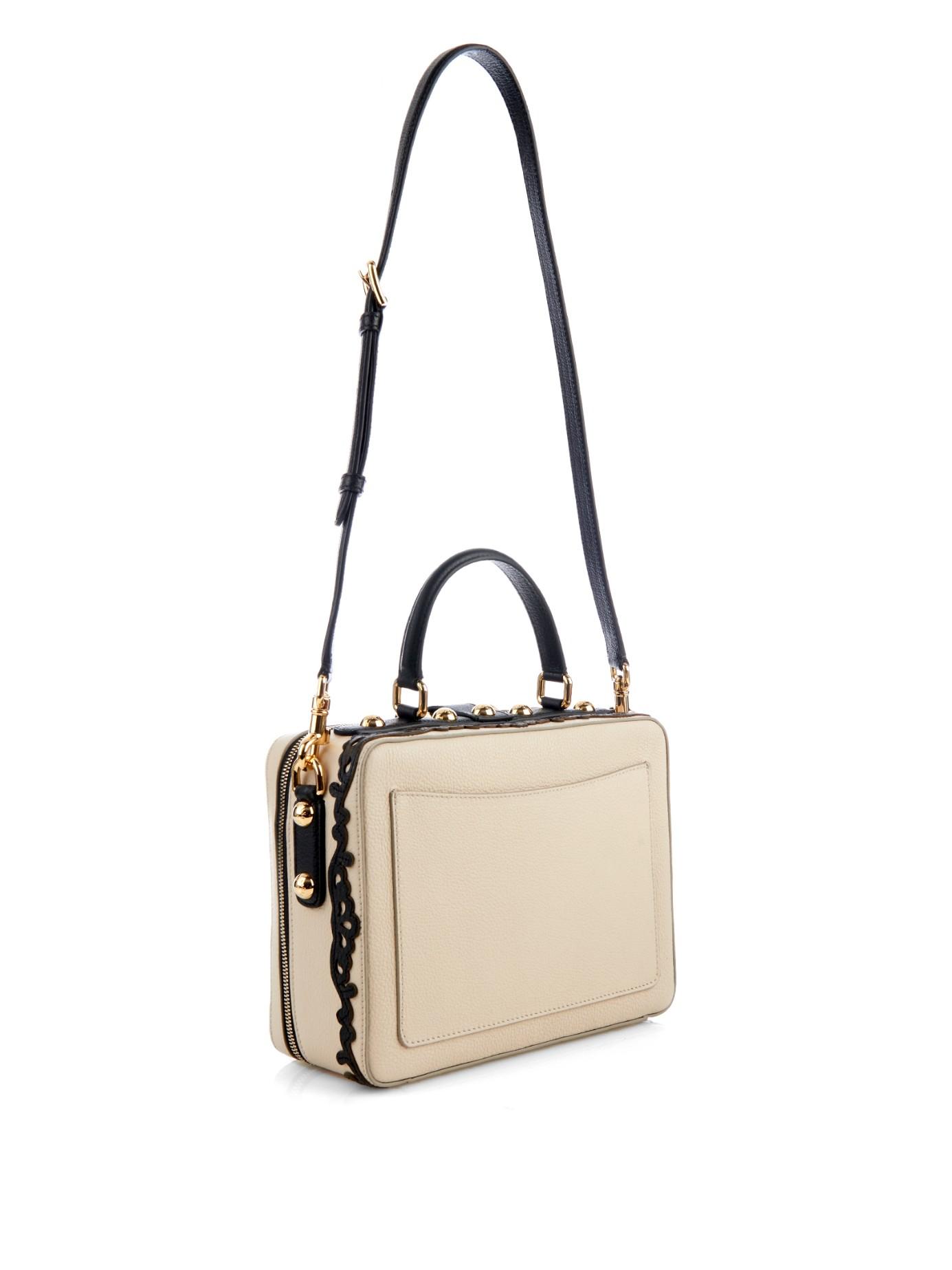 2a6a5e82ca Dolce   Gabbana Rosaria Embellished Leather Shoulder Bag - Lyst