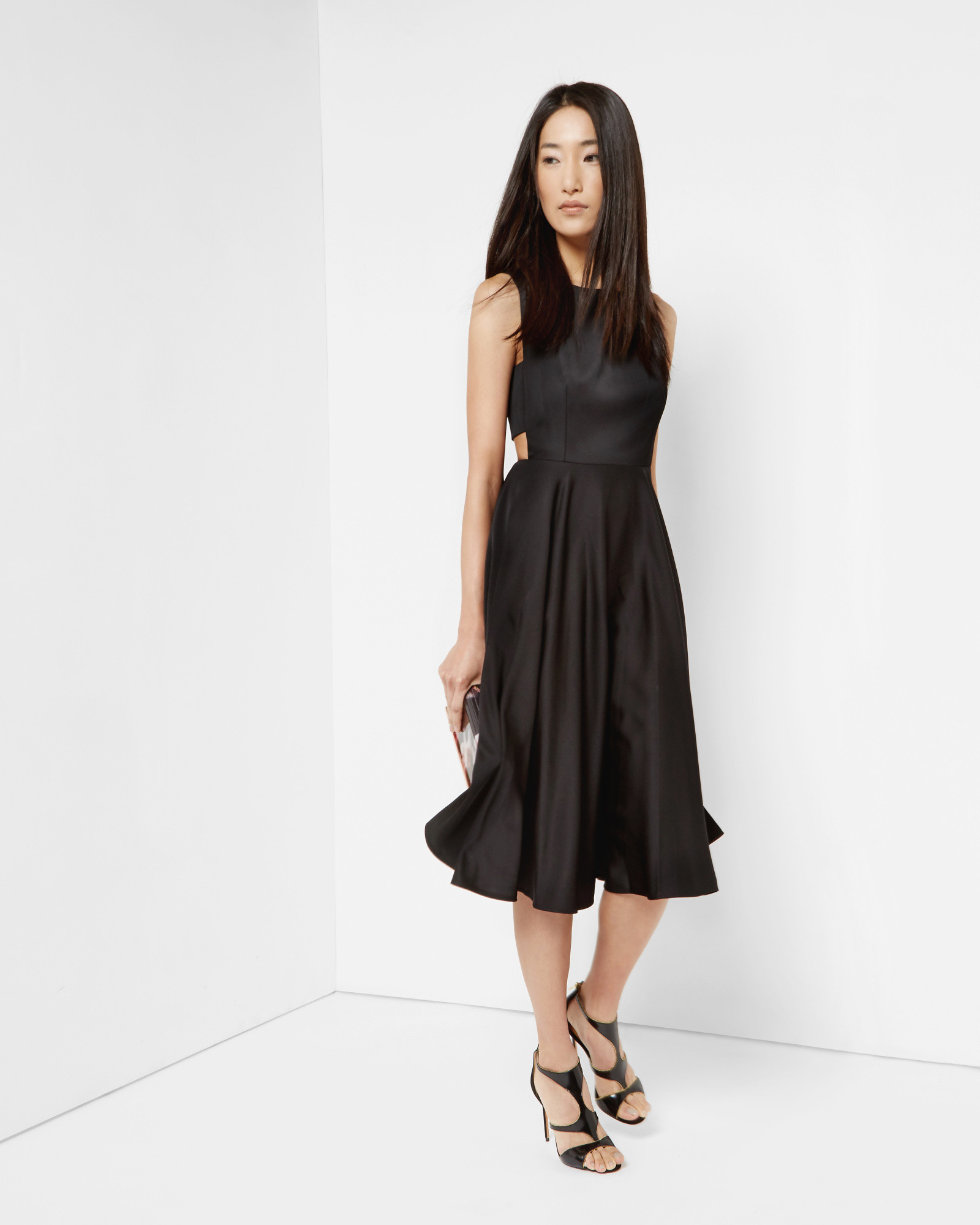 158c087ff8b Ted Baker Cut-out Midi Dress in Black - Lyst
