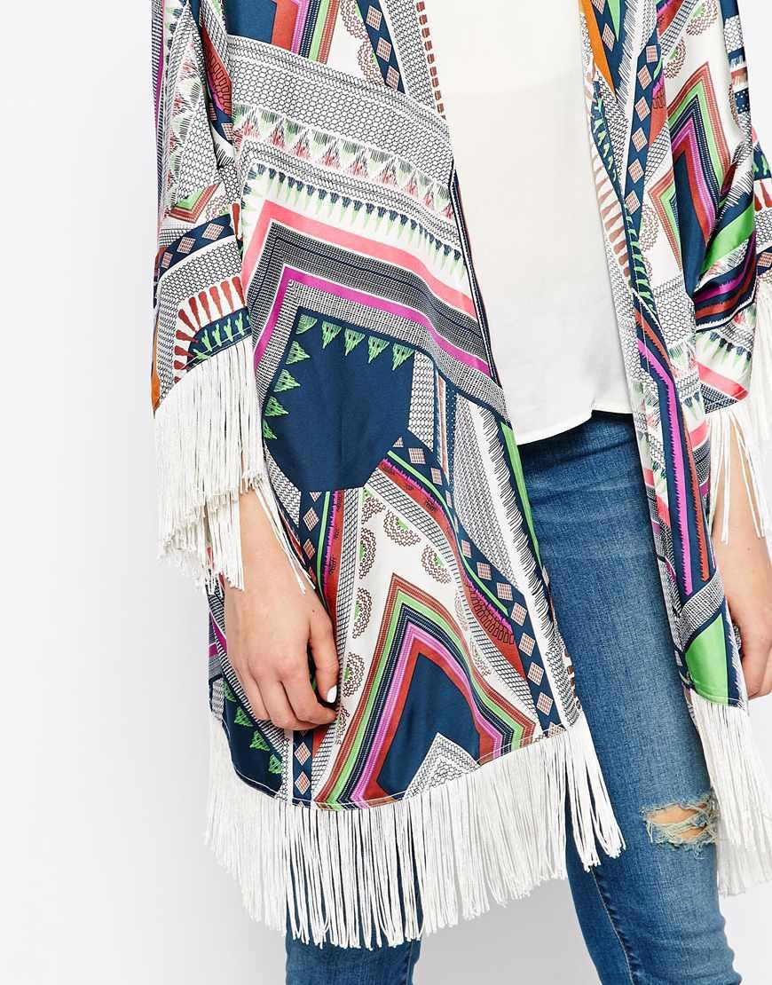 Essentiel Antwerp Kimono With Fringing Lyst