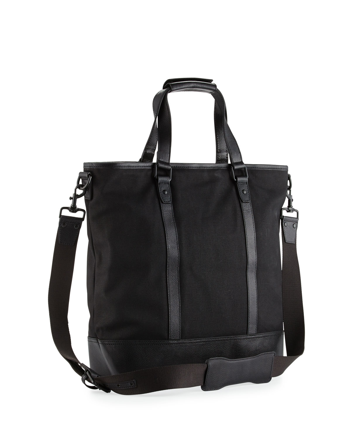2aeb2cbc7a7 Cole Haan Leather-trim Canvas Tote Bag in Black - Lyst