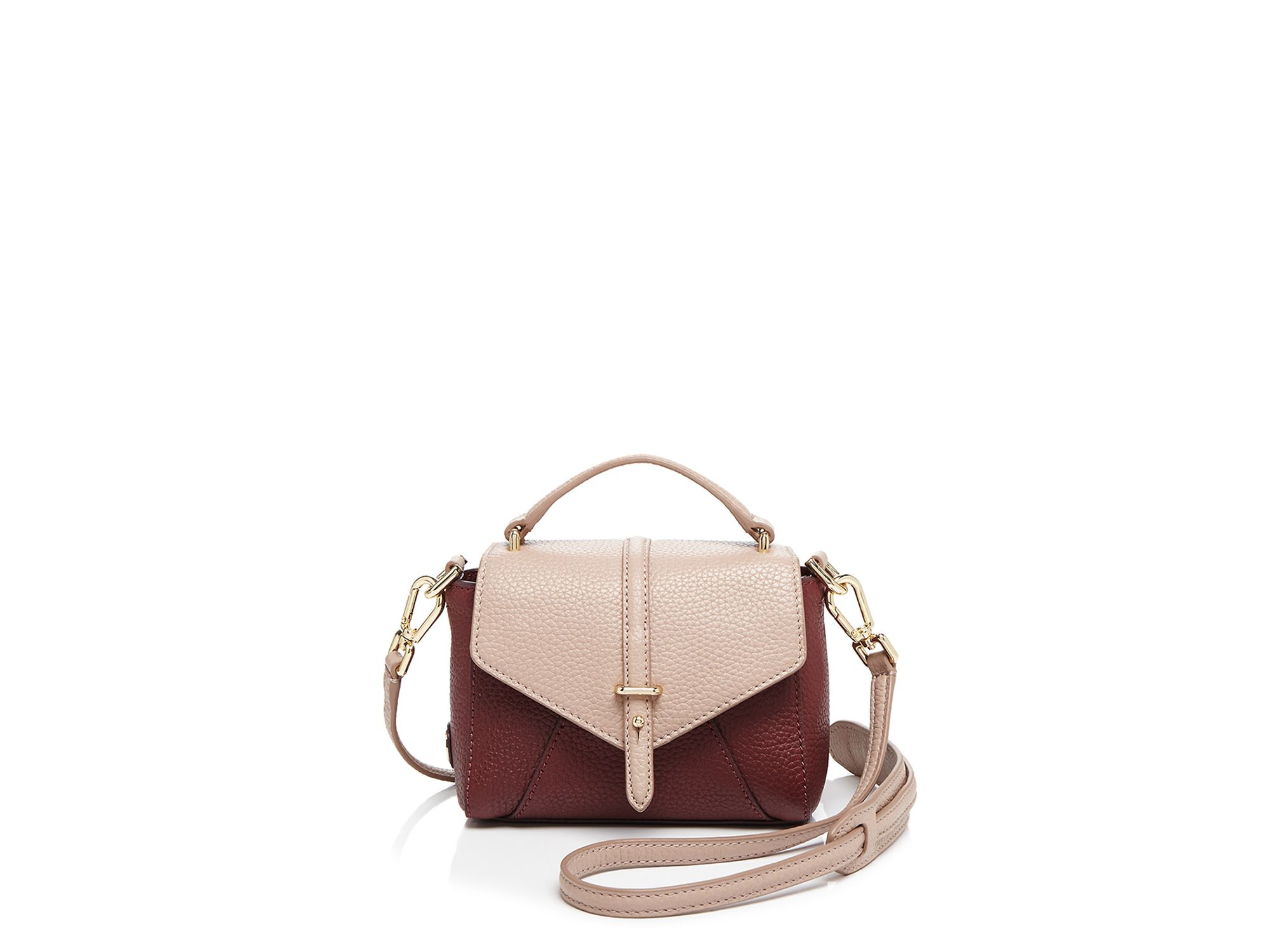 0f6e07224c7a Lyst - Tory Burch Satchel - 797 Tiny Color Block in Brown