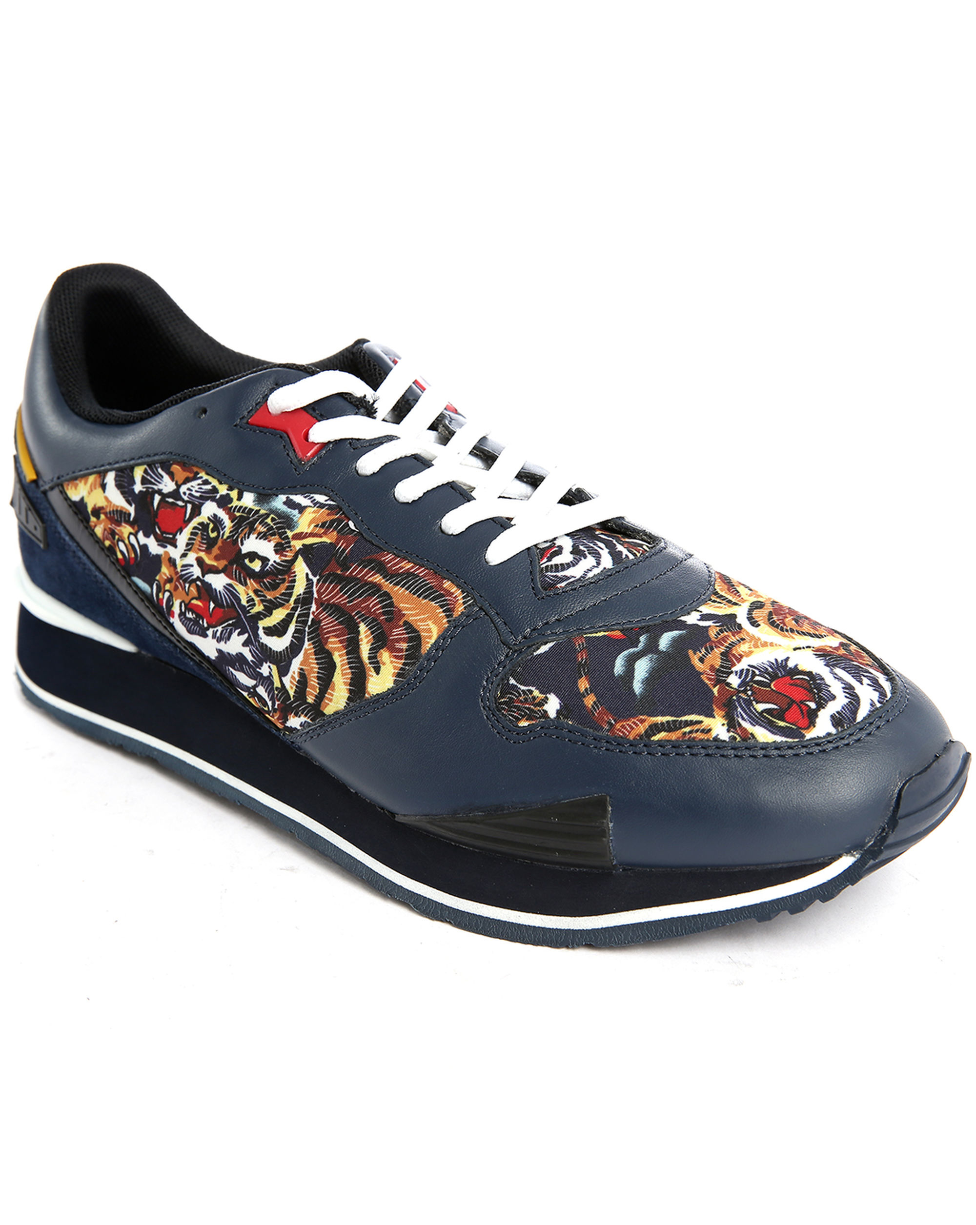 Kenzo Running Tiger All-over Print Sneakers in Blue for ...