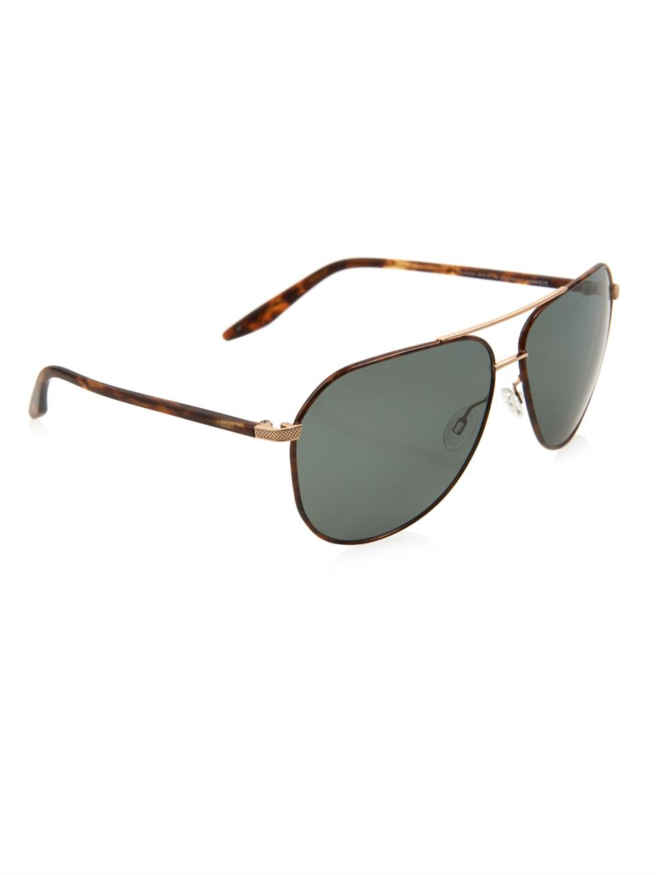 caf5d7af289 Lyst - Barton Perreira Hawkeye Aviator-Style Sunglasses in Brown for Men