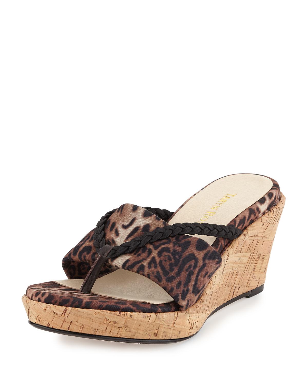Leopard Print Shoes Wedge Heel