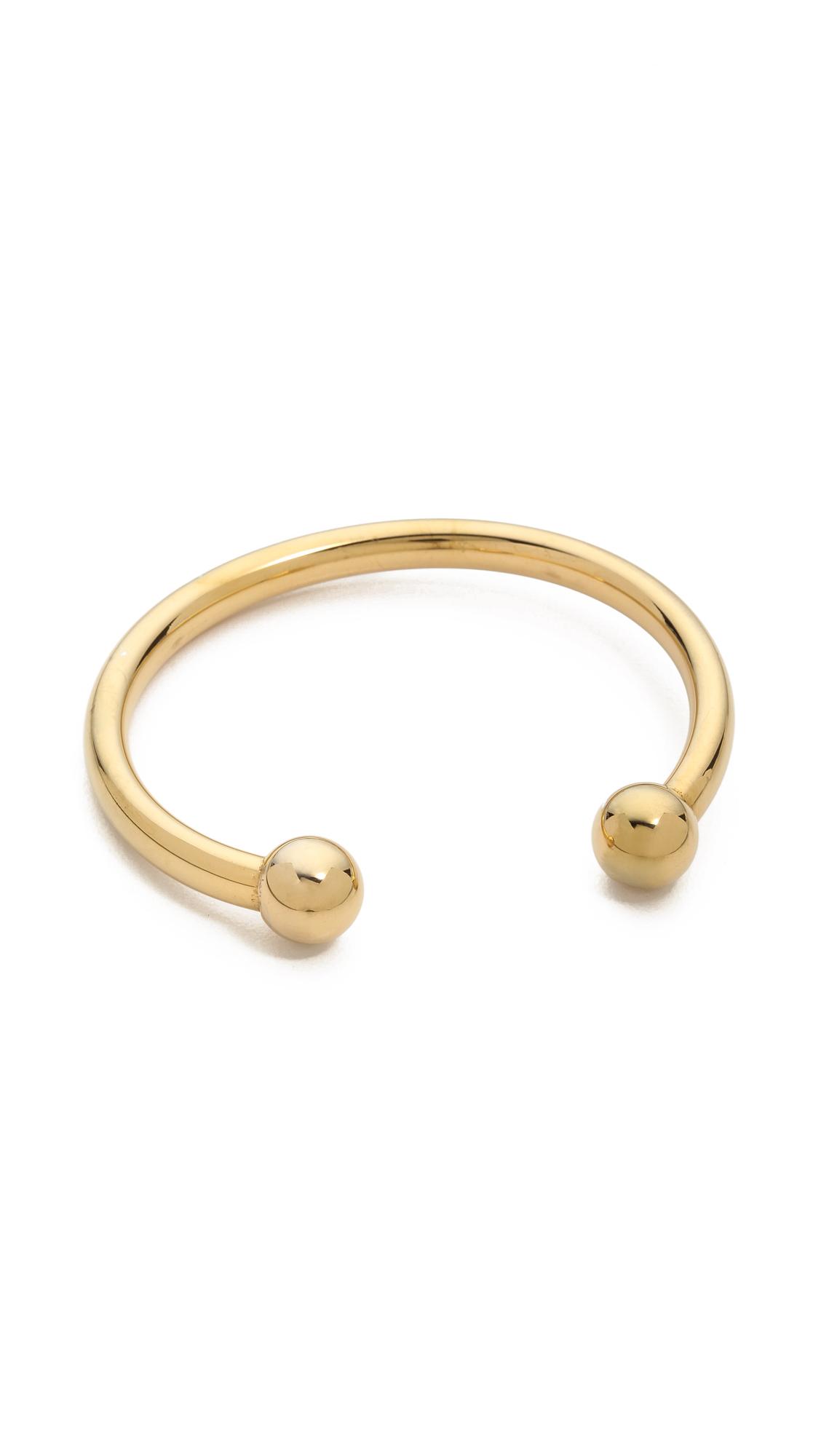 Lyst Fallon Shalom Ball Cuff Bracelet Gold In Metallic