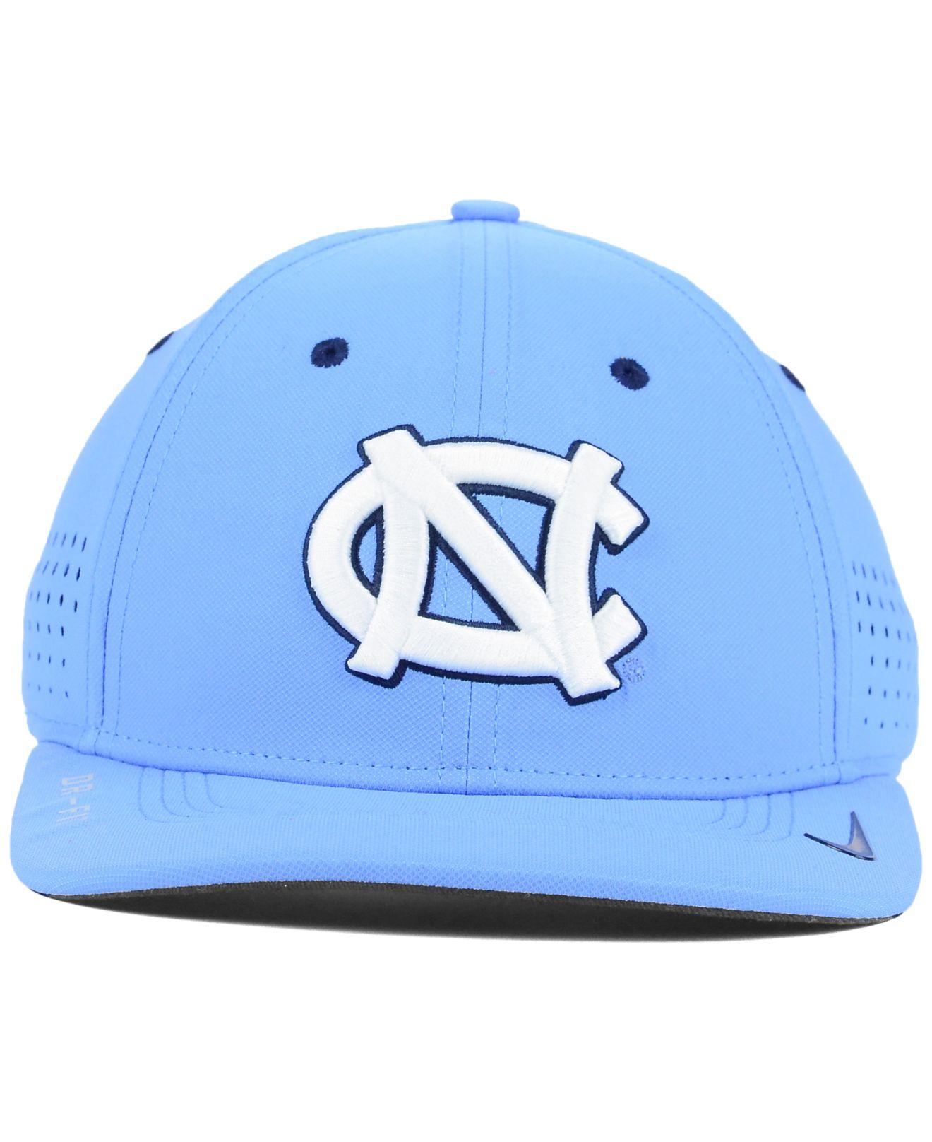 online store 17d79 d22bc ... reduced lyst nike north carolina tar heels sideline cap in blue for men  3b89d 5e341
