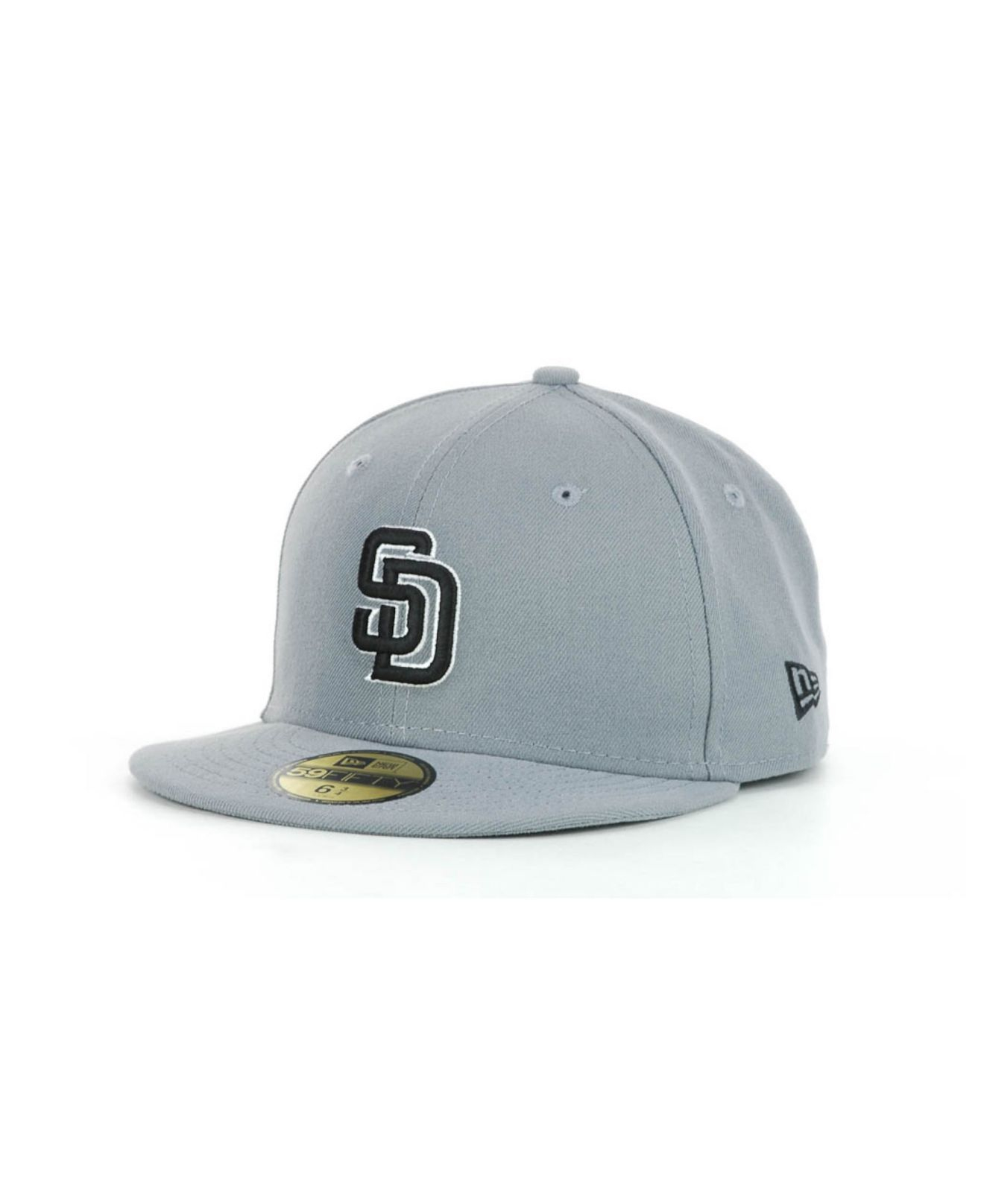 premium selection 9a407 18b83 ... top quality lyst ktz kids san diego padres mlb gray black and white  59fifty 9b2fa 37145