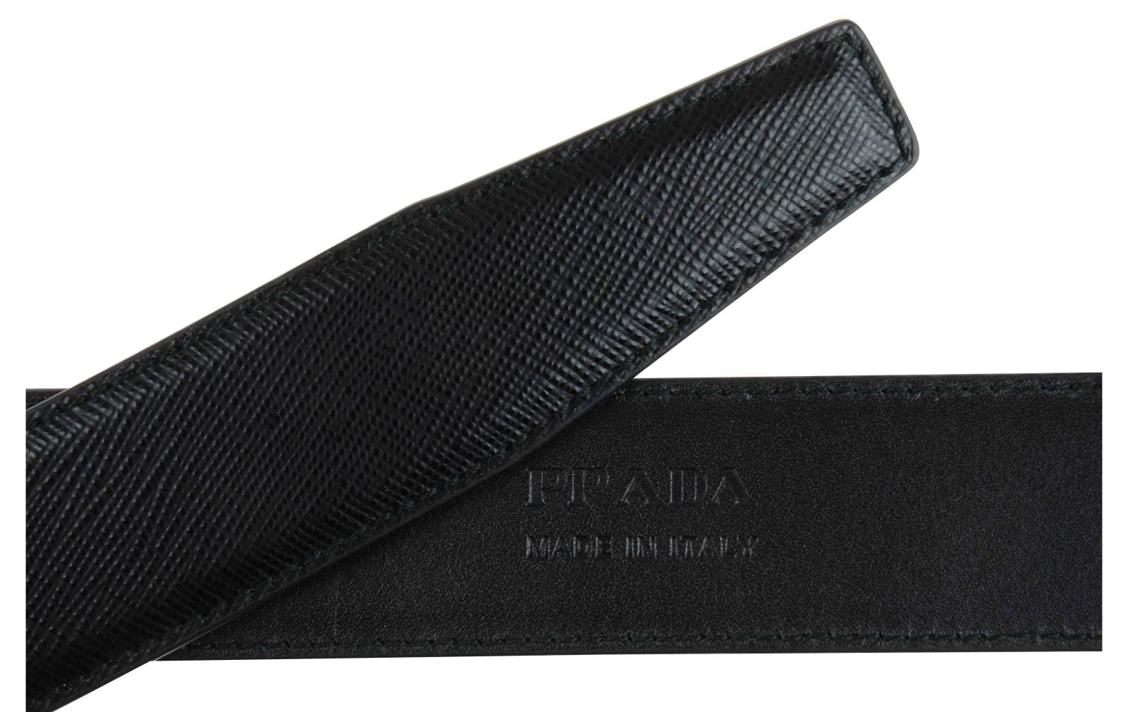 Prada Cintura Uomo Pelle Saffiano Nero in Black for Men (Nero) | Lyst