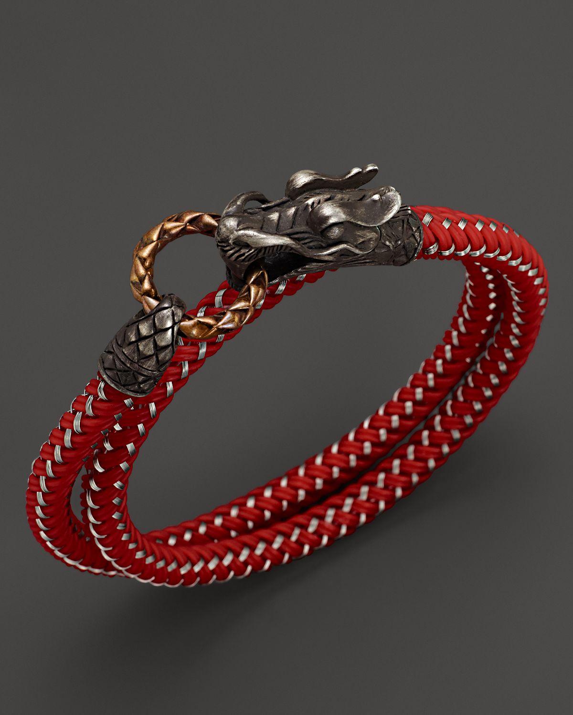 Lyst John Hardy Men S Naga Double Wrap Dragon Cord