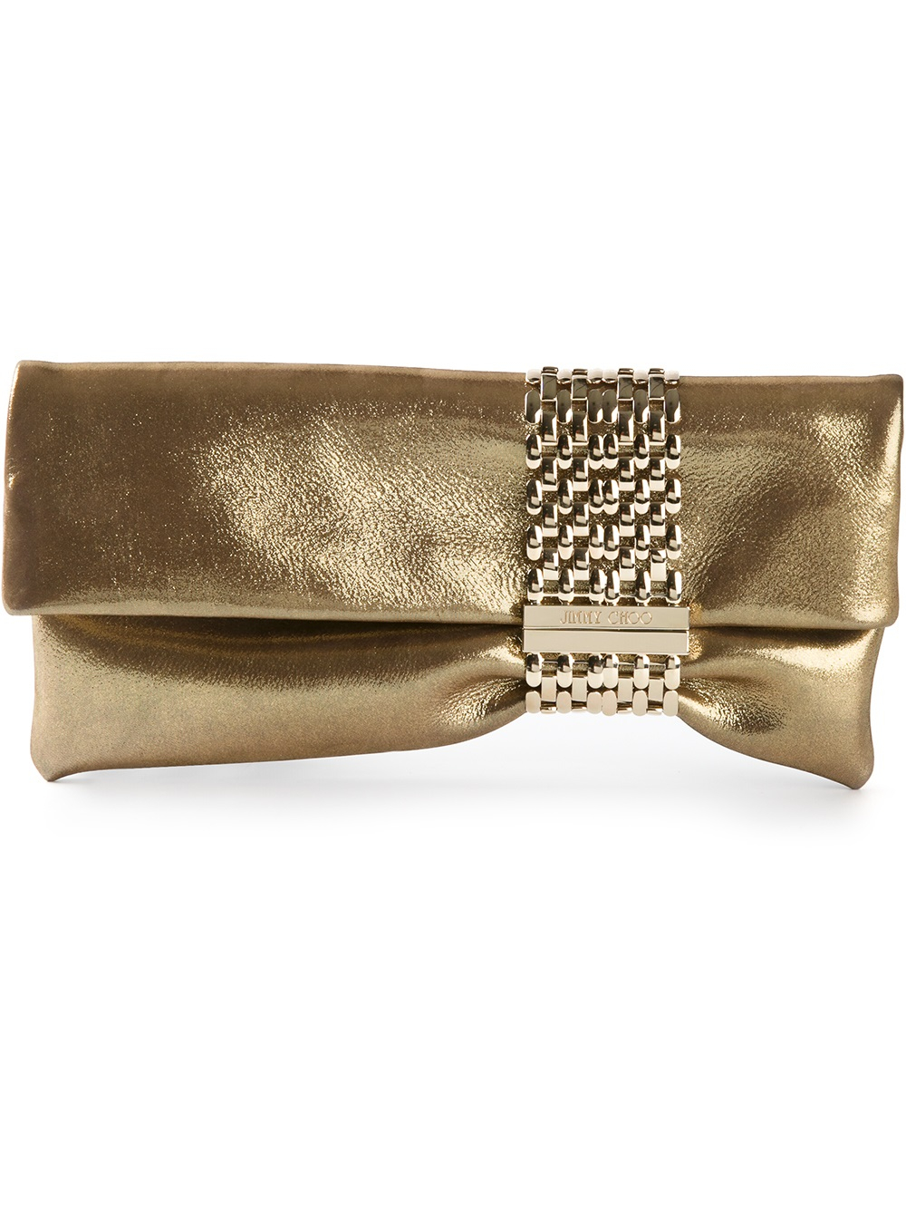 Jimmy choo Chandra Clutch Bag in Metallic | Lyst
