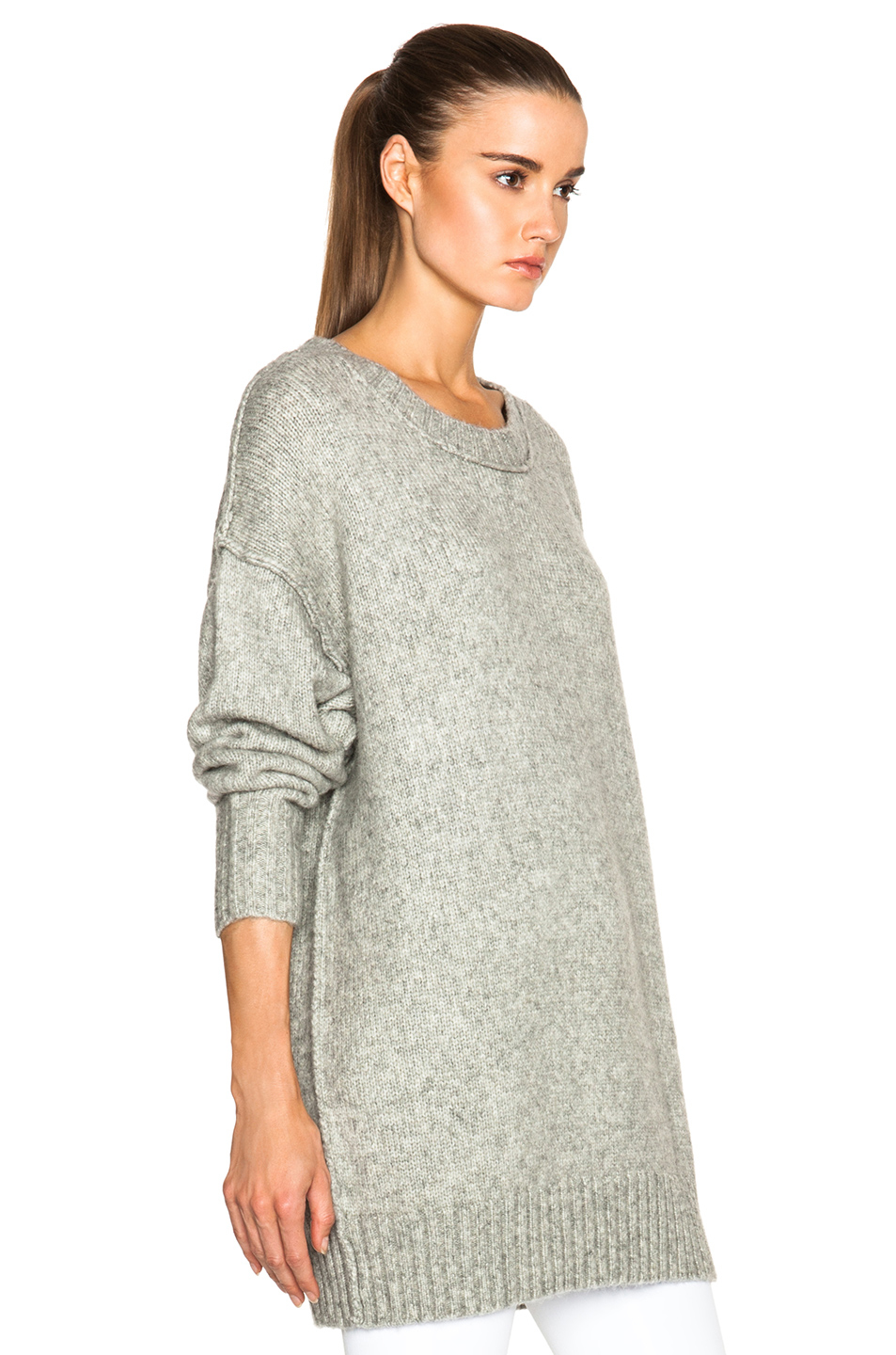 Nlst Oversized Crewneck Sweater in Gray | Lyst