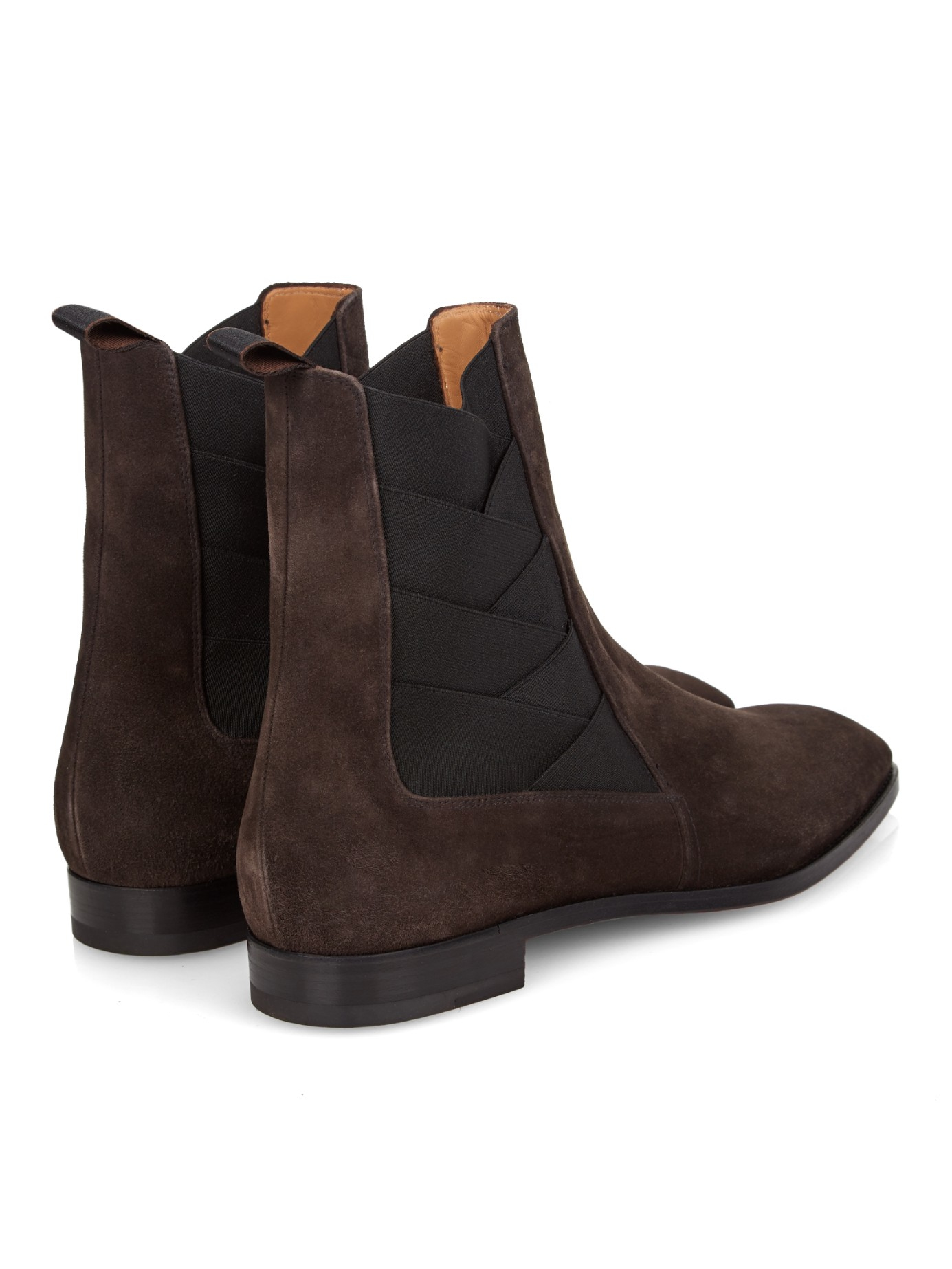 4ba5c480ec8a ... italy lyst christian louboutin brian suede ankle boots in brown for men  c8fd3 87d22