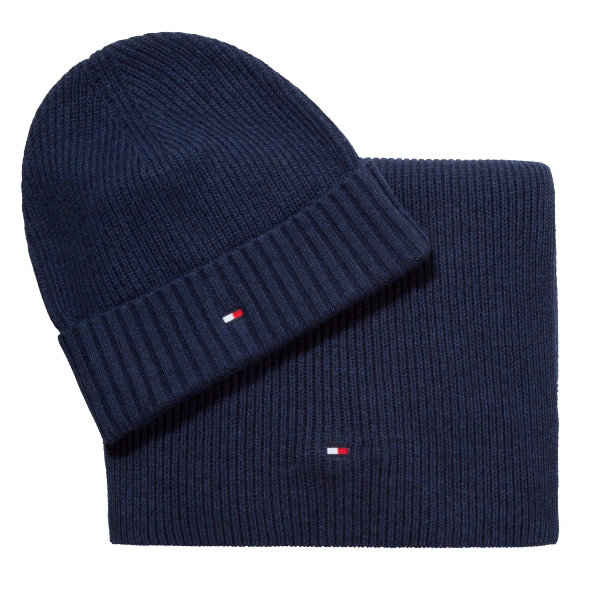 Tommy Hilfiger Hat And Scarf Set in Blue for Men - Lyst 9f54d3e5557