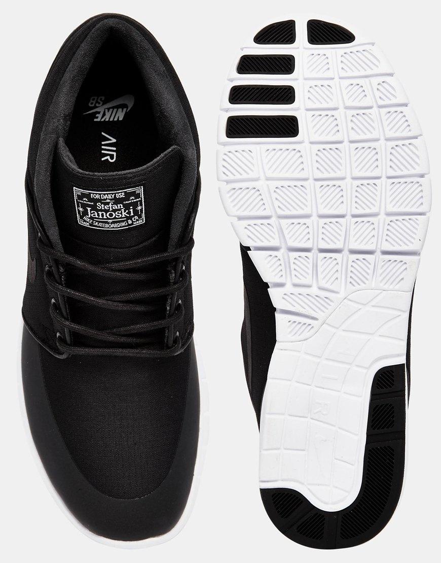 12ecaa4de0 Nike Nike Stefan Janoski Max Mid Trainers 807507-001 in Black for Men - Lyst