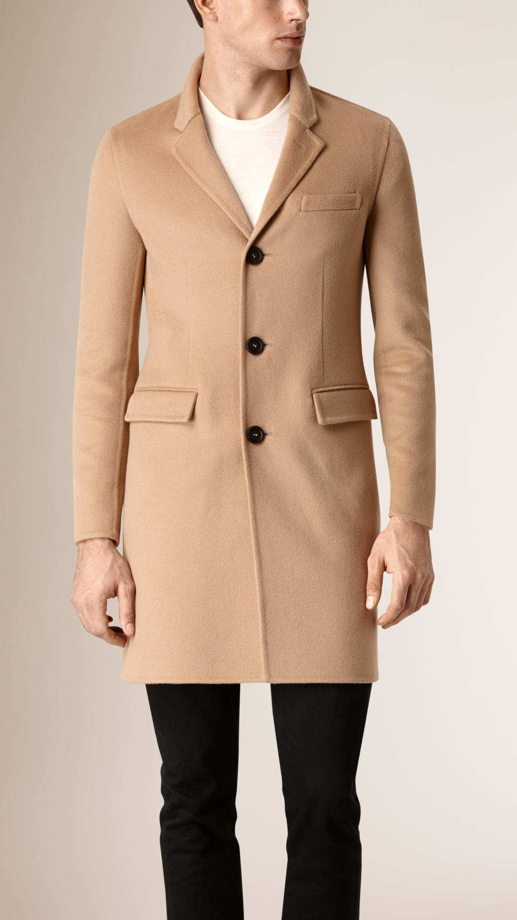 Burberry Tailored Cashmere Coat in Natural for Men | Lyst