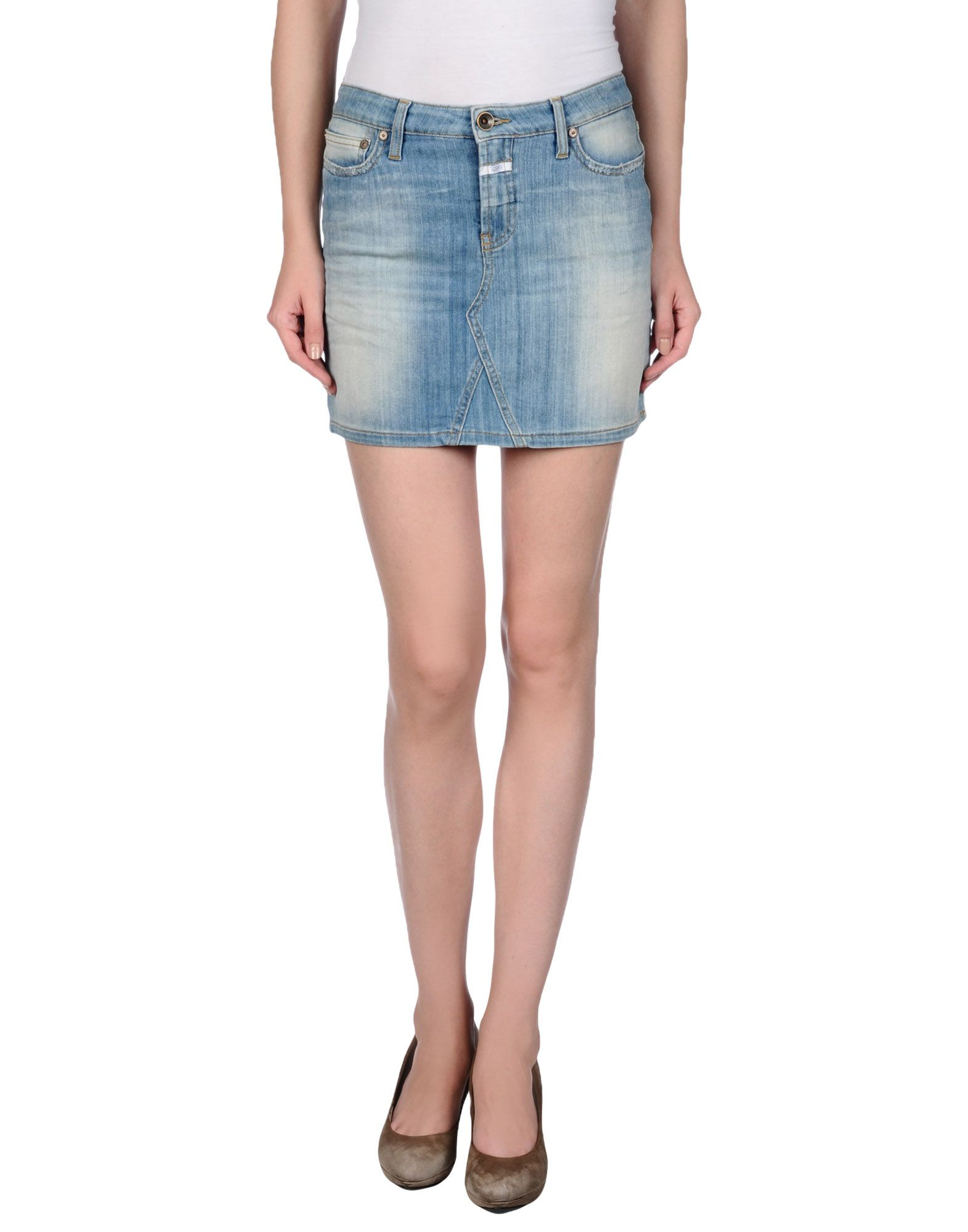 closed denim skirt in blue lyst
