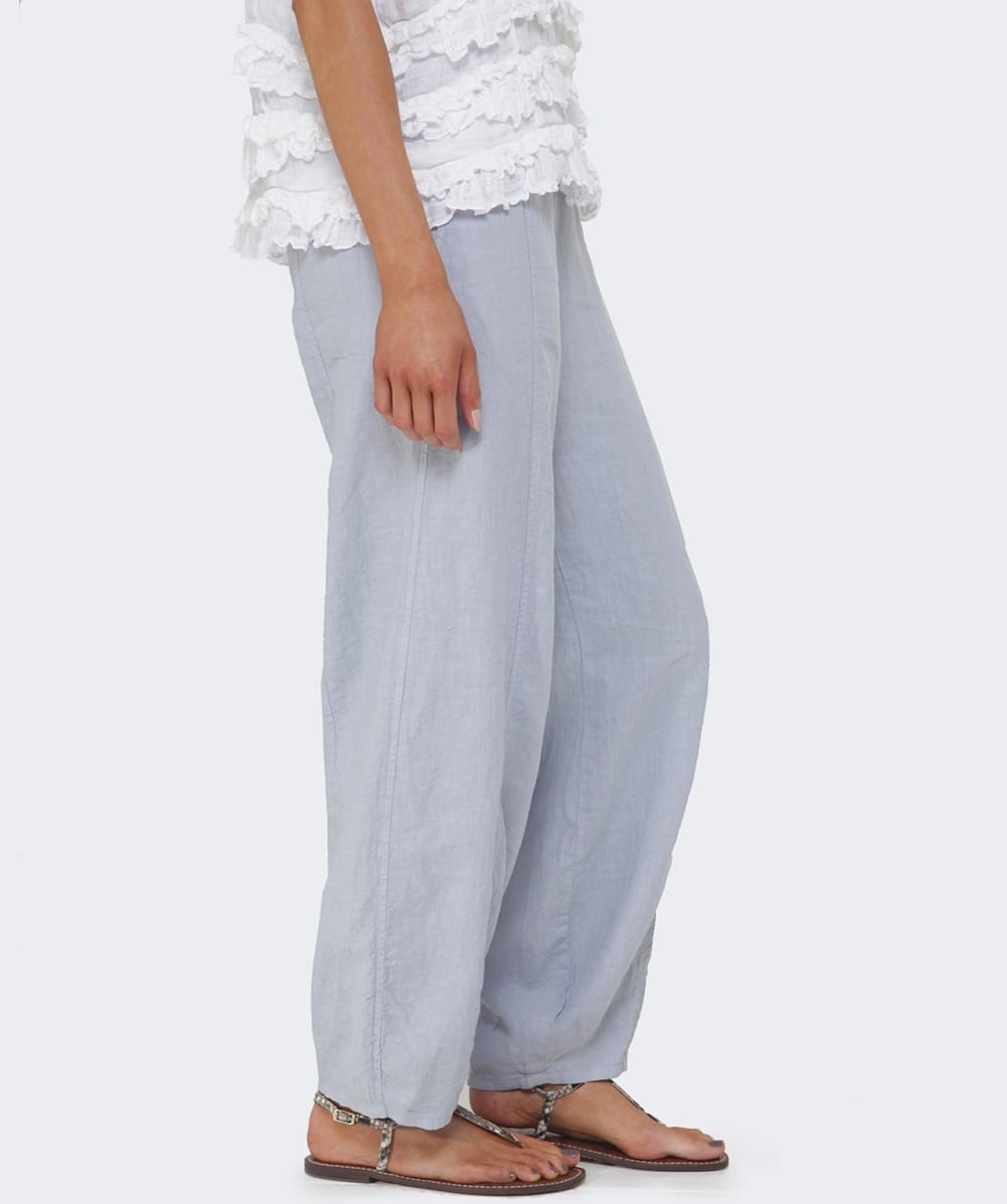 Perfect Gray Baggy Harem Pants Women Linen Trousers BonLife By BonLife