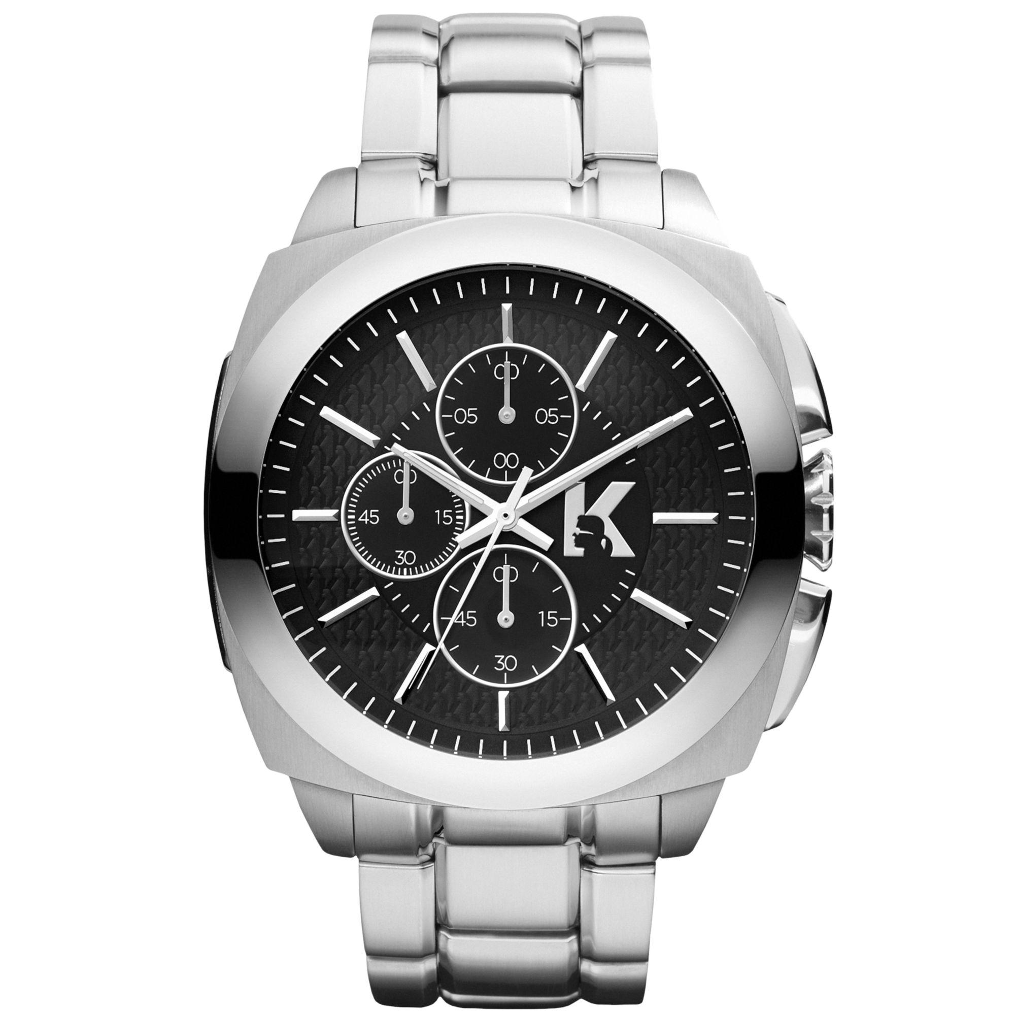 karl lagerfeld unisex chronograph stainless steel bracelet