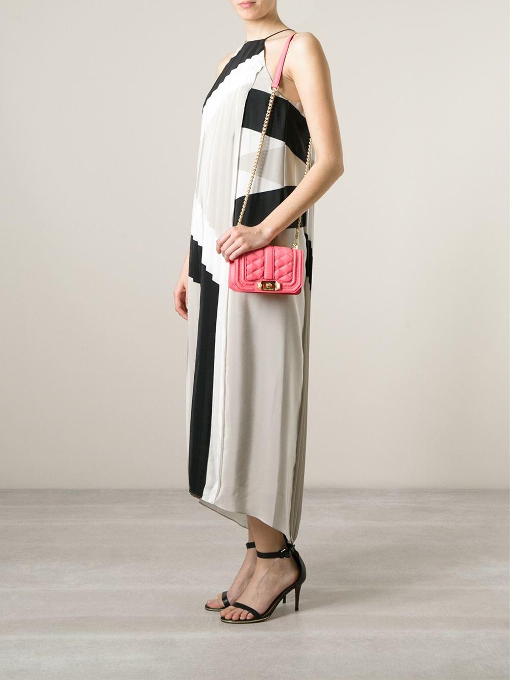 Lyst Rebecca Minkoff Mini Love Cross Body Bag In Pink