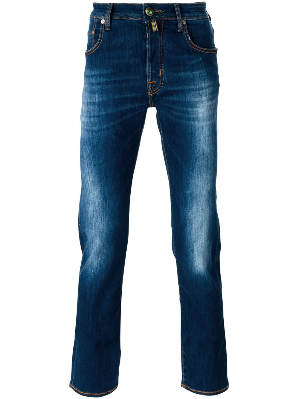 lyst jacob cohen stone washed jeans in blue for men. Black Bedroom Furniture Sets. Home Design Ideas