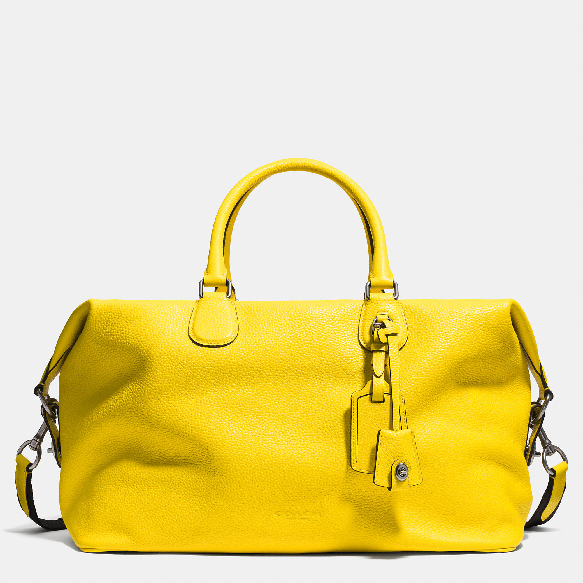 7602e93d06e9 Lyst - COACH Explorer Bag In Pebble Leather in Yellow for Men