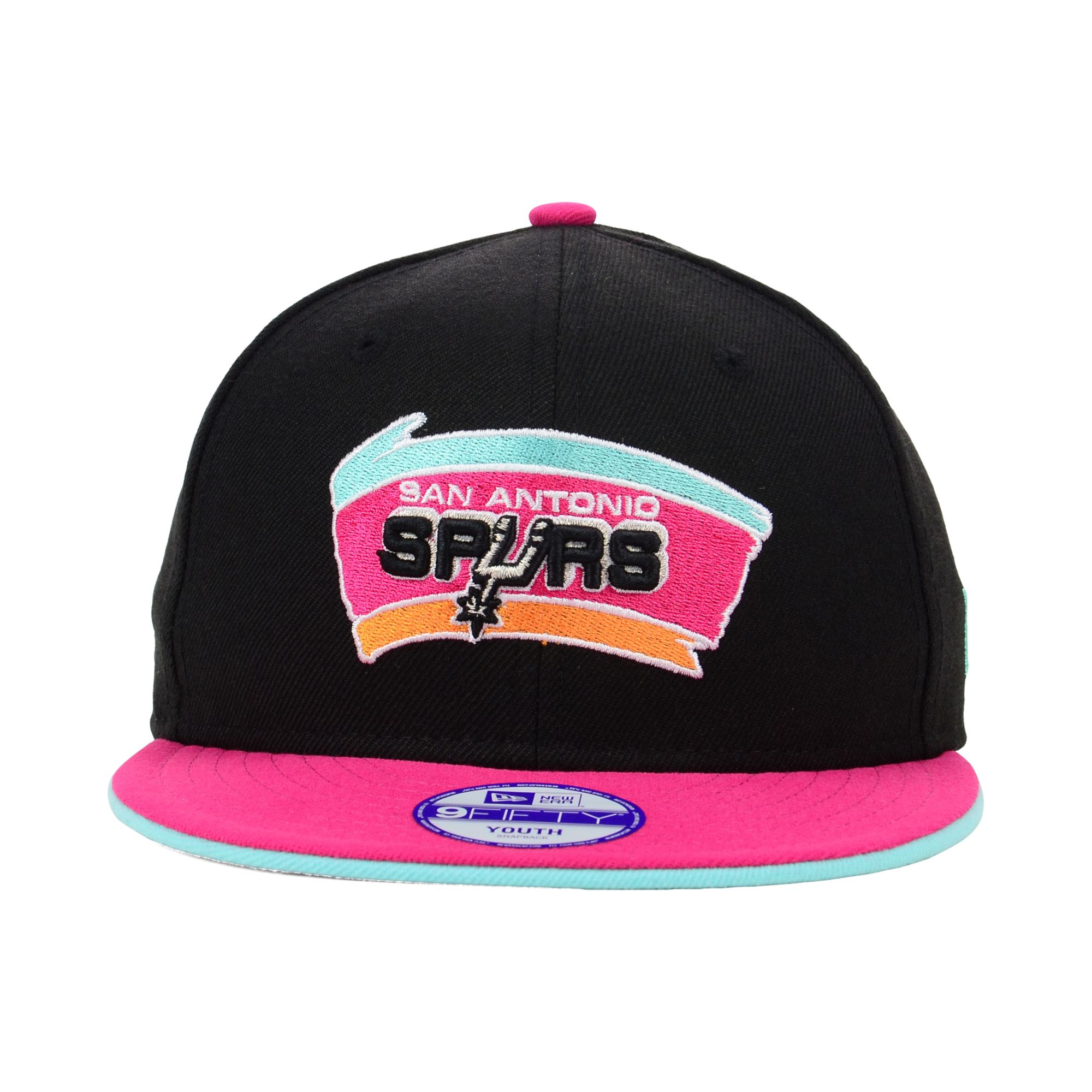 promo code 81891 7dd93 KTZ Kids San Antonio Spurs Black Team Flip 9fifty Snapback Cap in ...