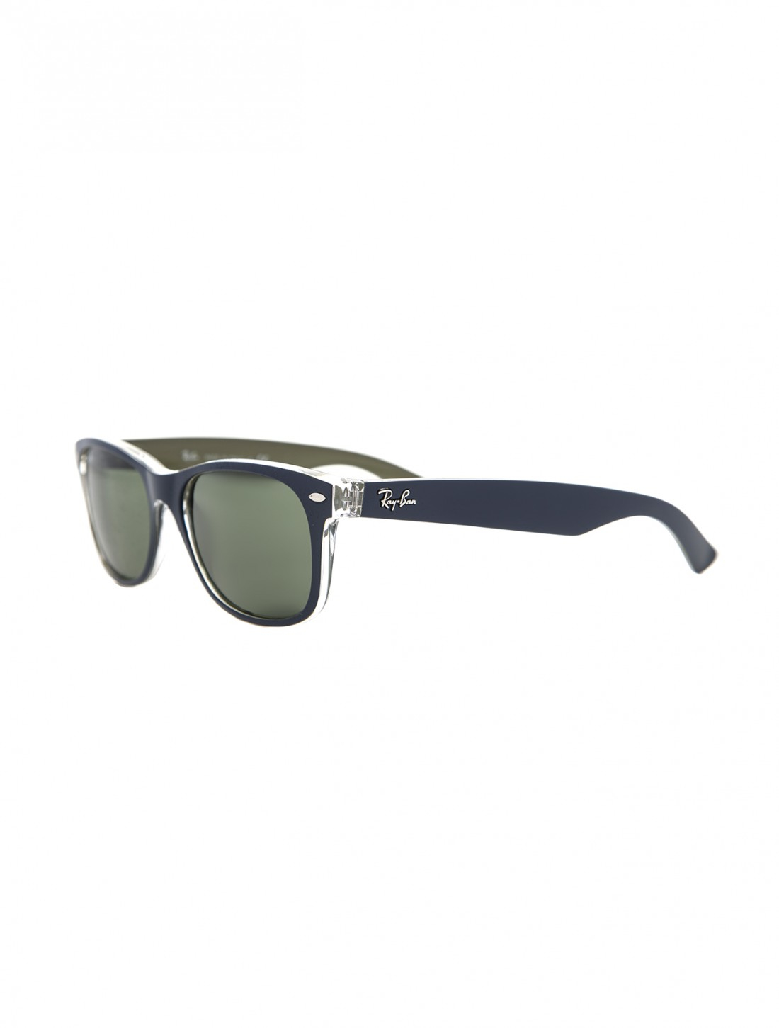 ... ray ban new wayfarer black rubber 55 ...