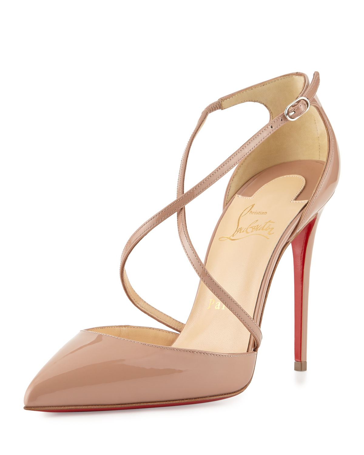christian louboutin pigalle follies 100mm patent leather pointed toe pumps  pinky; gallery