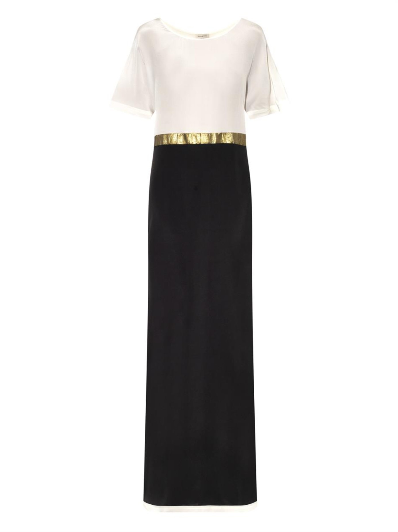 f2b6ed34f02 Lyst - Zeus+Dione Sifnos Panelled Silk Maxi Dress in Black