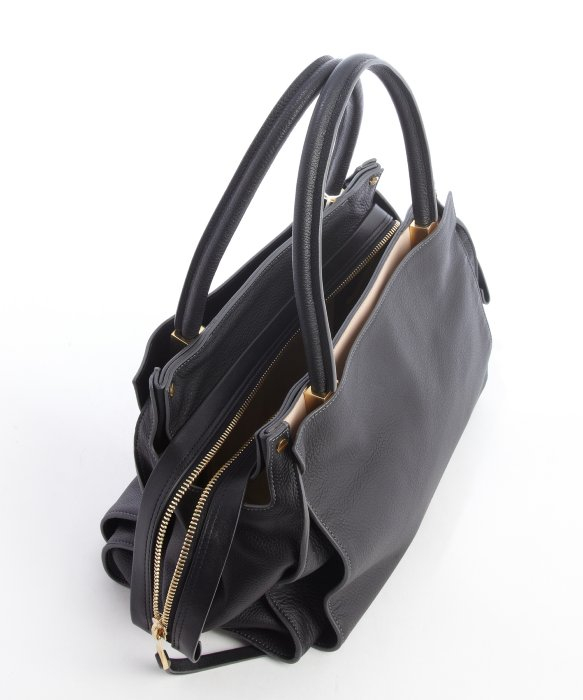 chloe distress leather handle bag