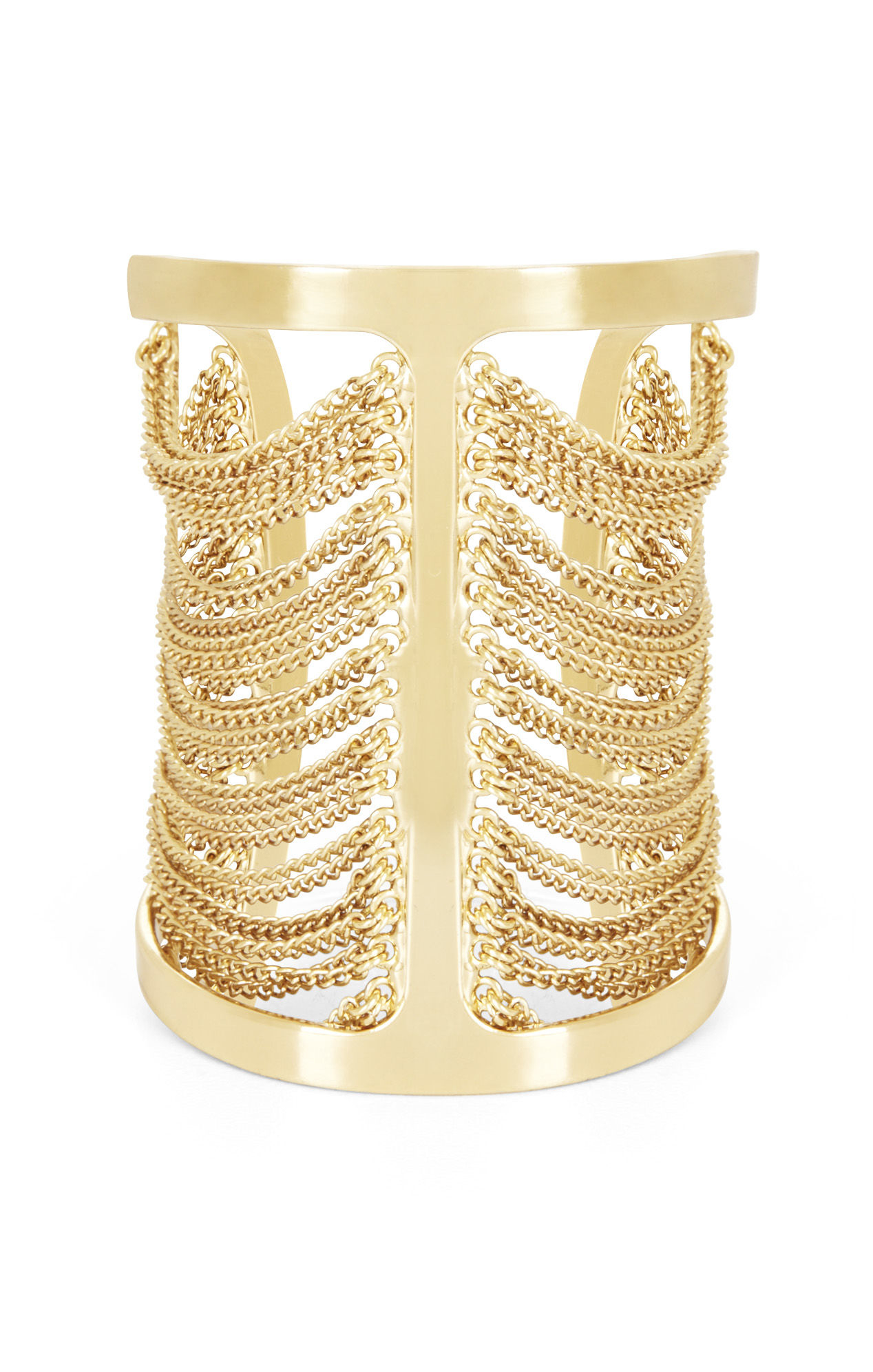 Sole Society Womens Statement Cuff Bracelet Gold One Size From Sole Society Ony7Y1U