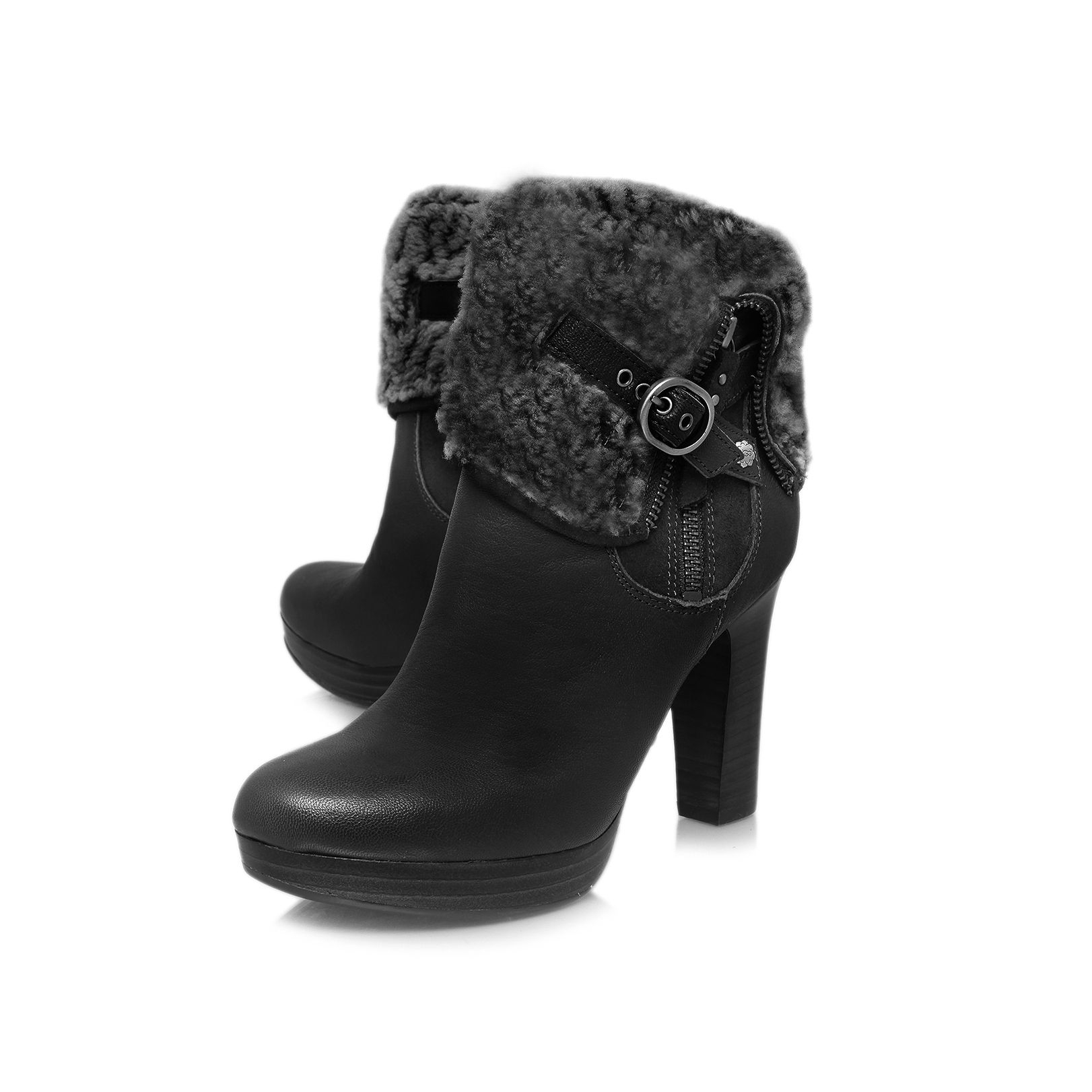 Black Ugg Heeled Boots