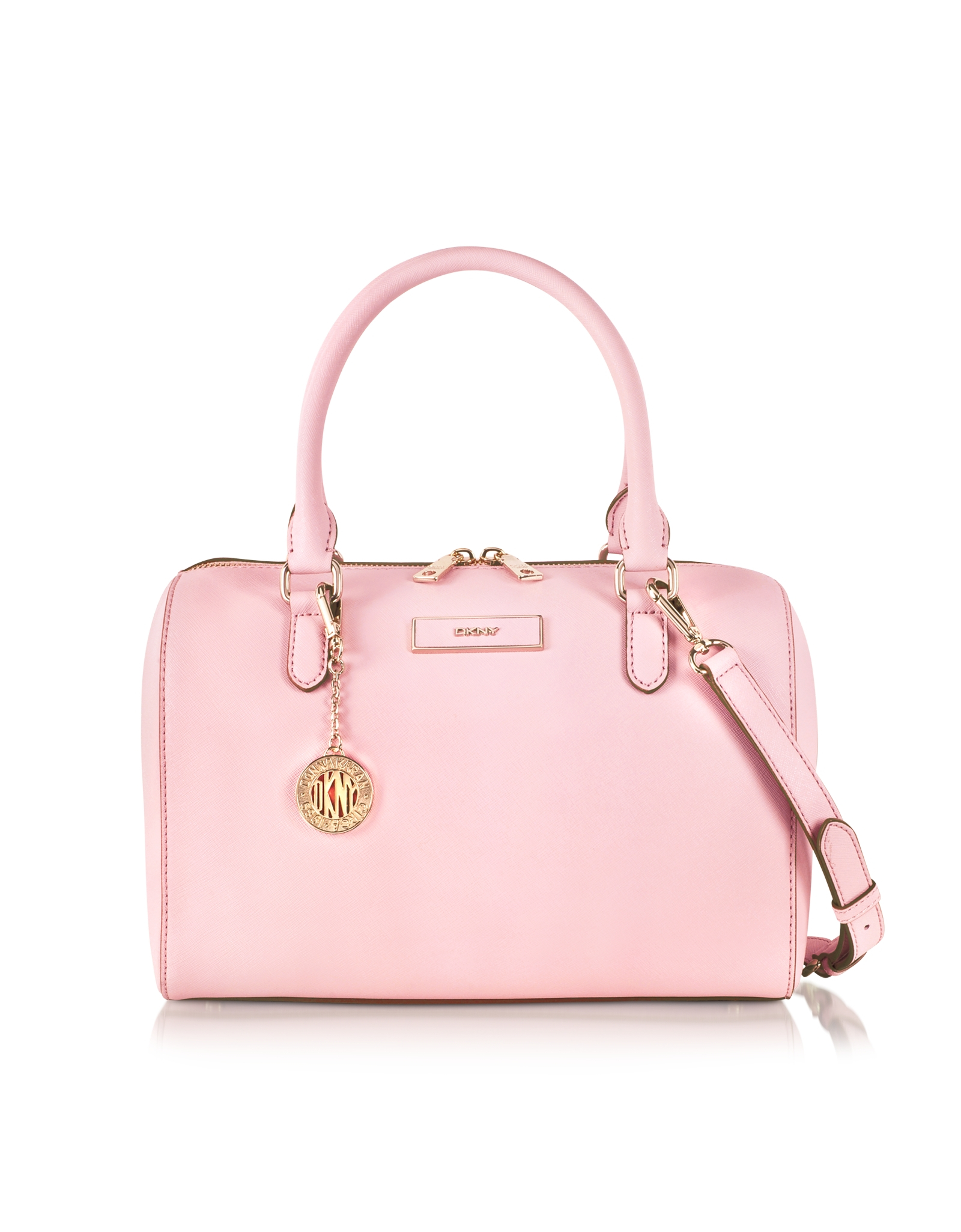 Dkny Bryant Park Saffiano Leather Satchel Bag in Pink | Lyst