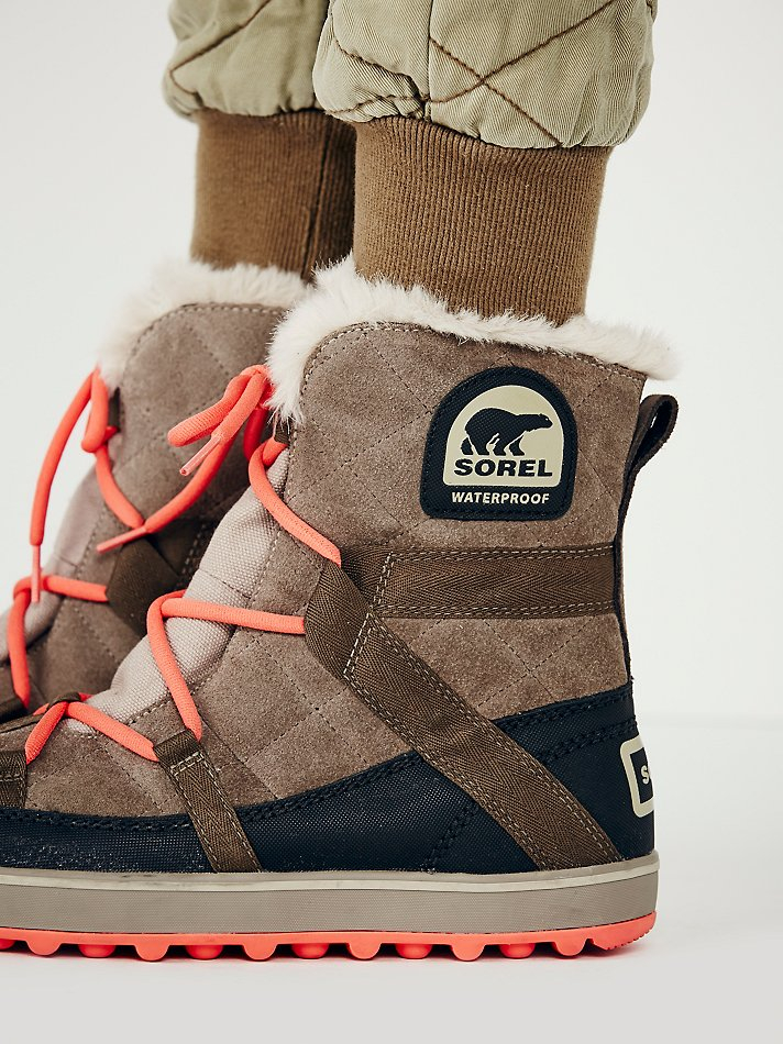 1e40fcc037f Lyst - Sorel Glacy Explorer Weather Boot in Natural
