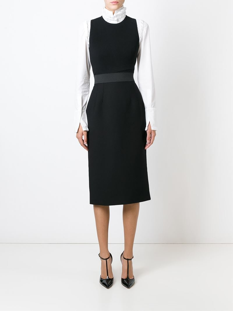 Dolce & gabbana Straight Midi Skirt in Black | Lyst