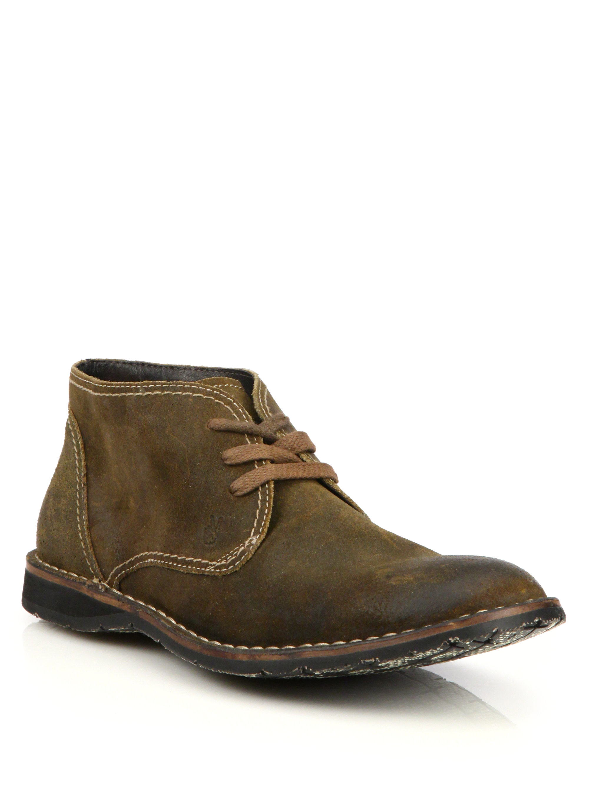 John varvatos Hipster Suede Chukka Boots in Green for Men | Lyst