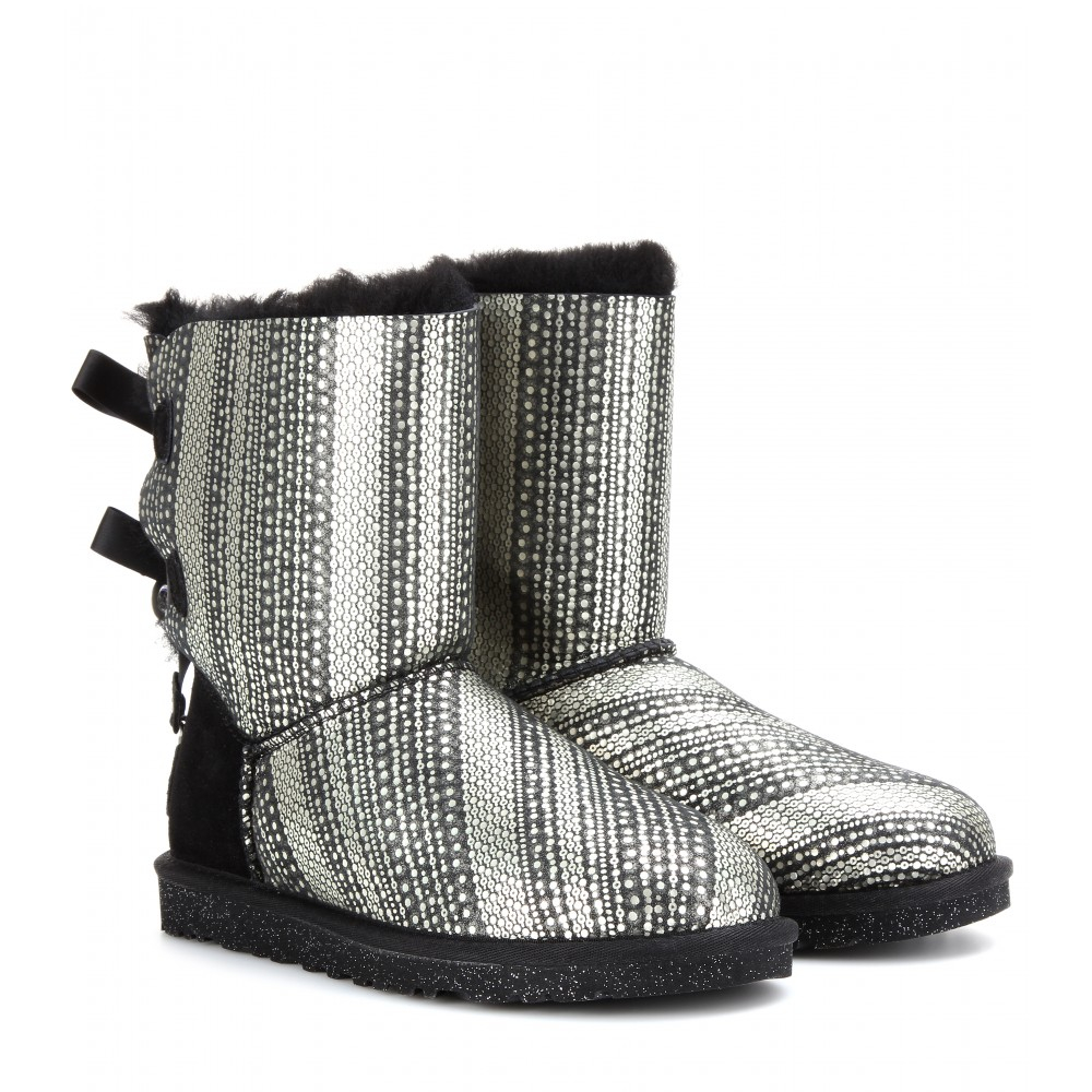 7fc9c84e5e4 Ugg Bailey Bow Bling Black