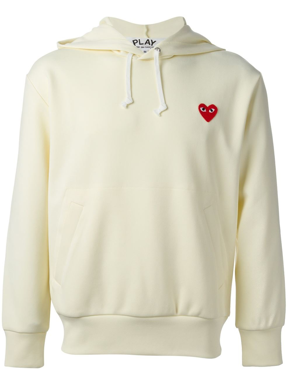 Play Comme Des Gar 231 Ons Embroidered Logo Hoodie Men