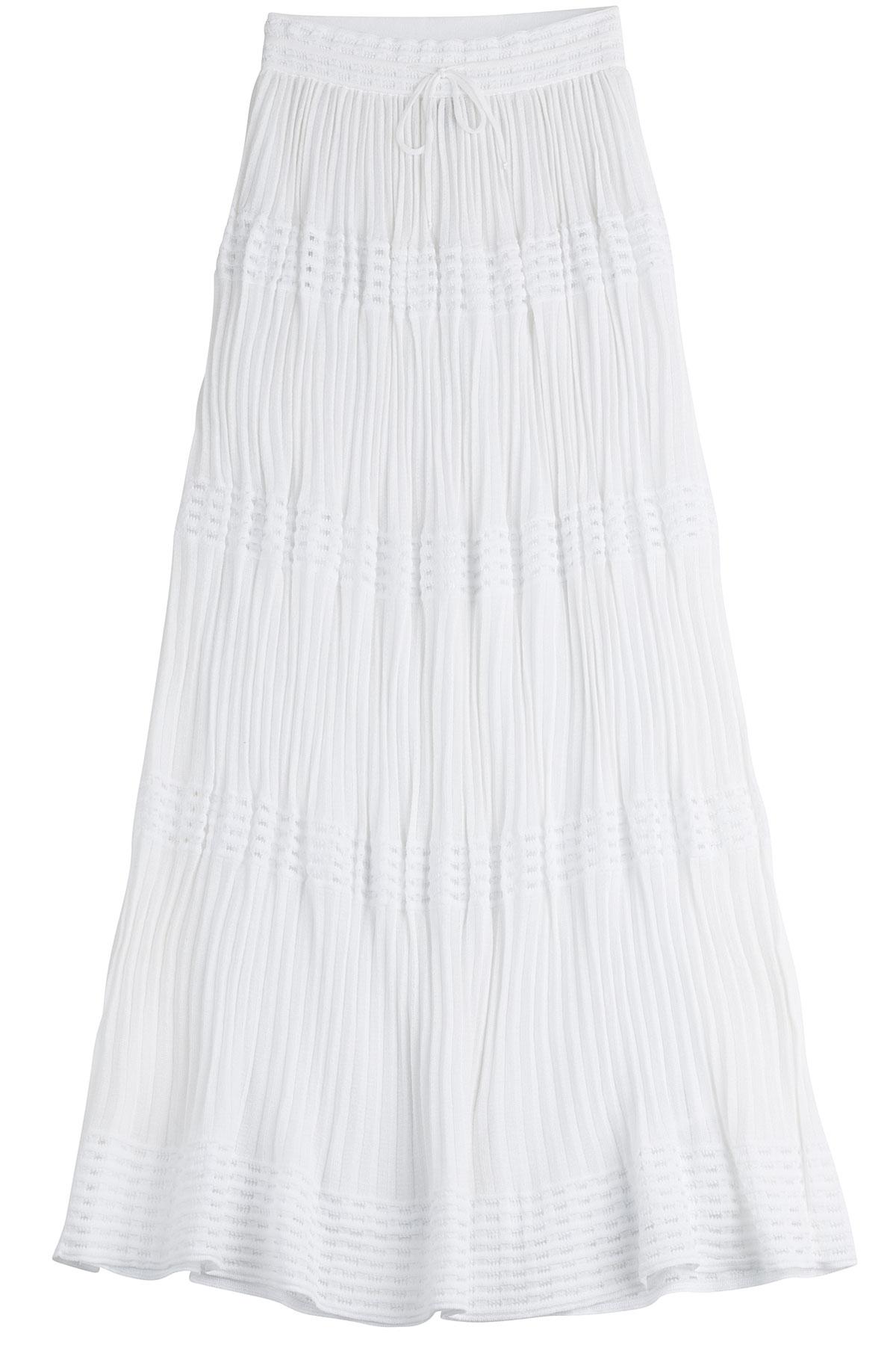 m missoni cotton maxi skirt white in white lyst