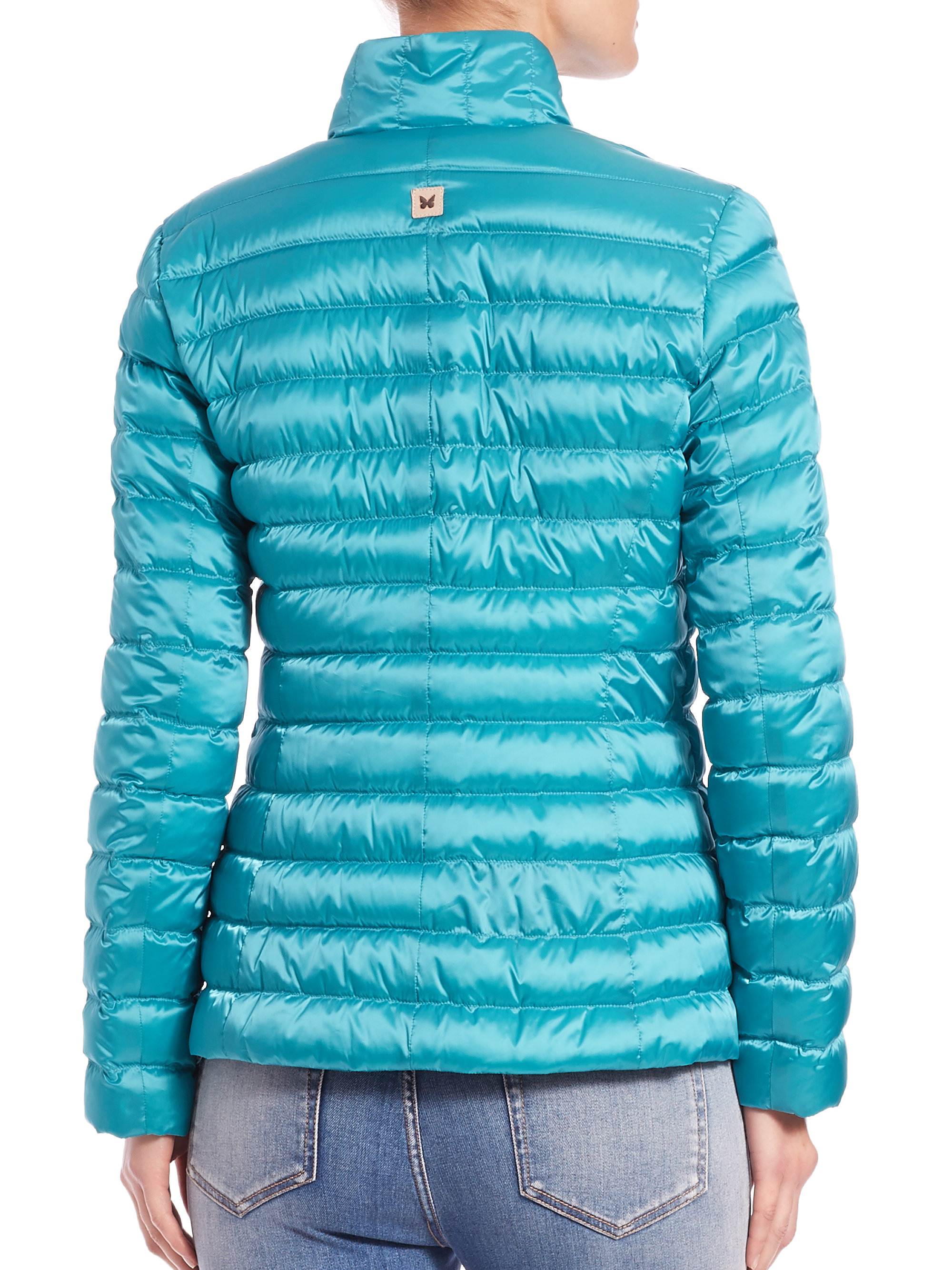 Weekend by maxmara Chiara Lightweight Down Jacket in Blue | Lyst