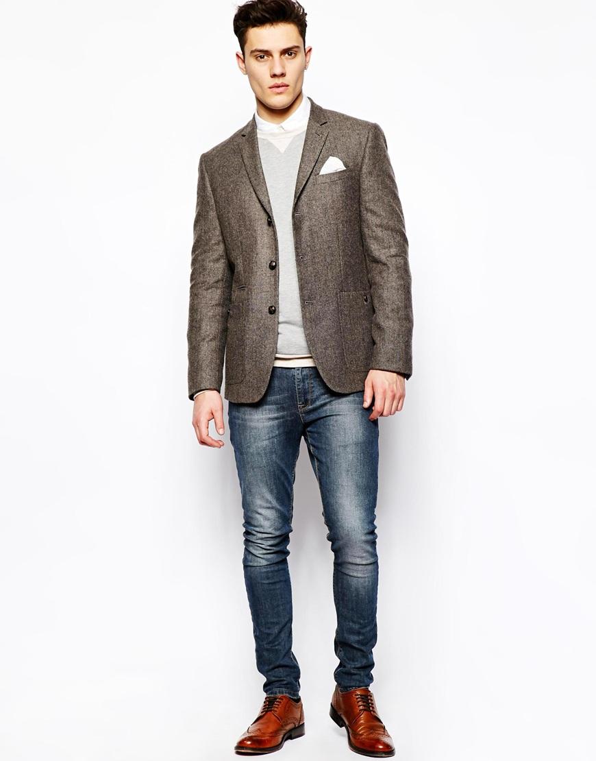 mens brown tweed blazer hardon clothes. Black Bedroom Furniture Sets. Home Design Ideas