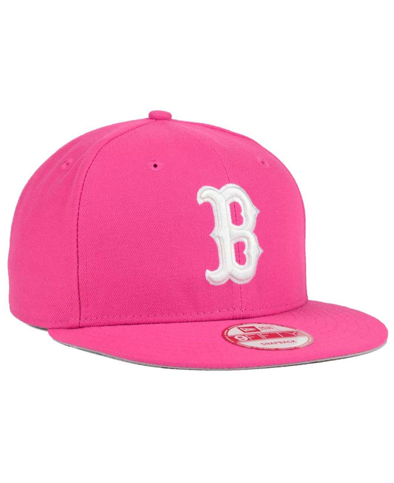 620d54c3ca5 ... czech lyst ktz boston red sox c dub 9fifty snapback cap in pink for men  6ec3a
