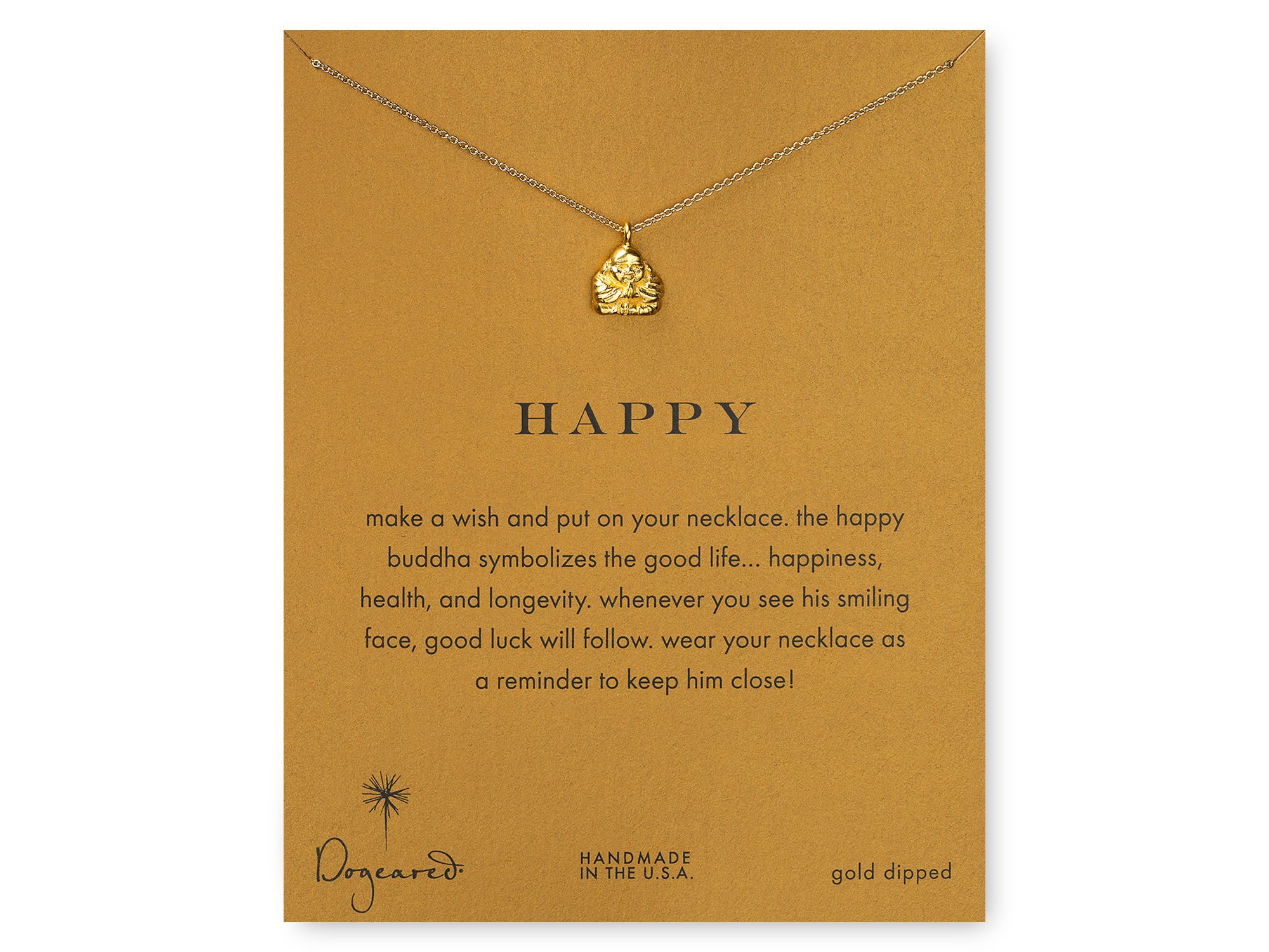 Lyst dogeared happy buddha pendant necklace 18 in metallic gallery mozeypictures Images